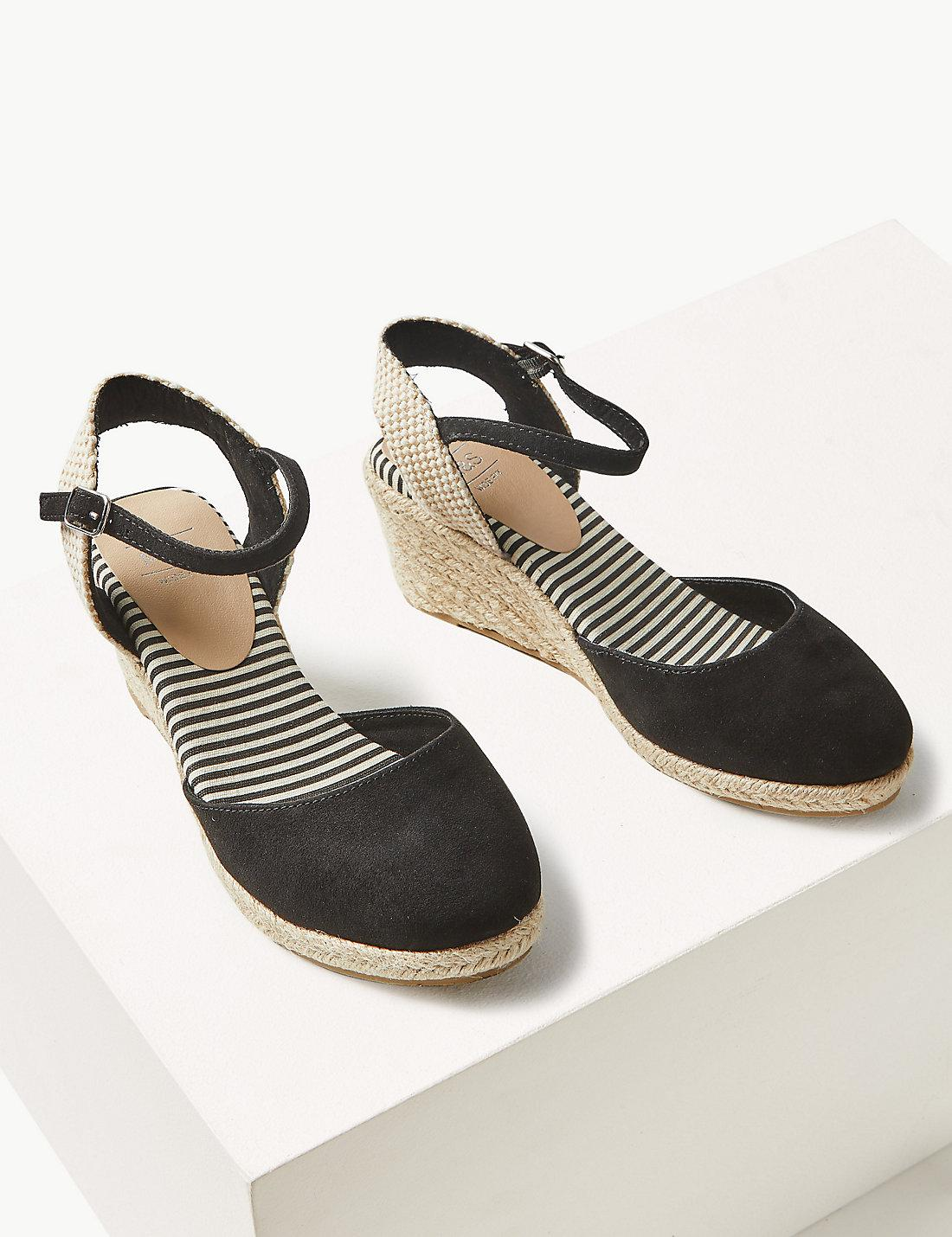 a6102e57900 Lyst - Marks   Spencer Wide Fit Wedge Heel Espadrilles in Black