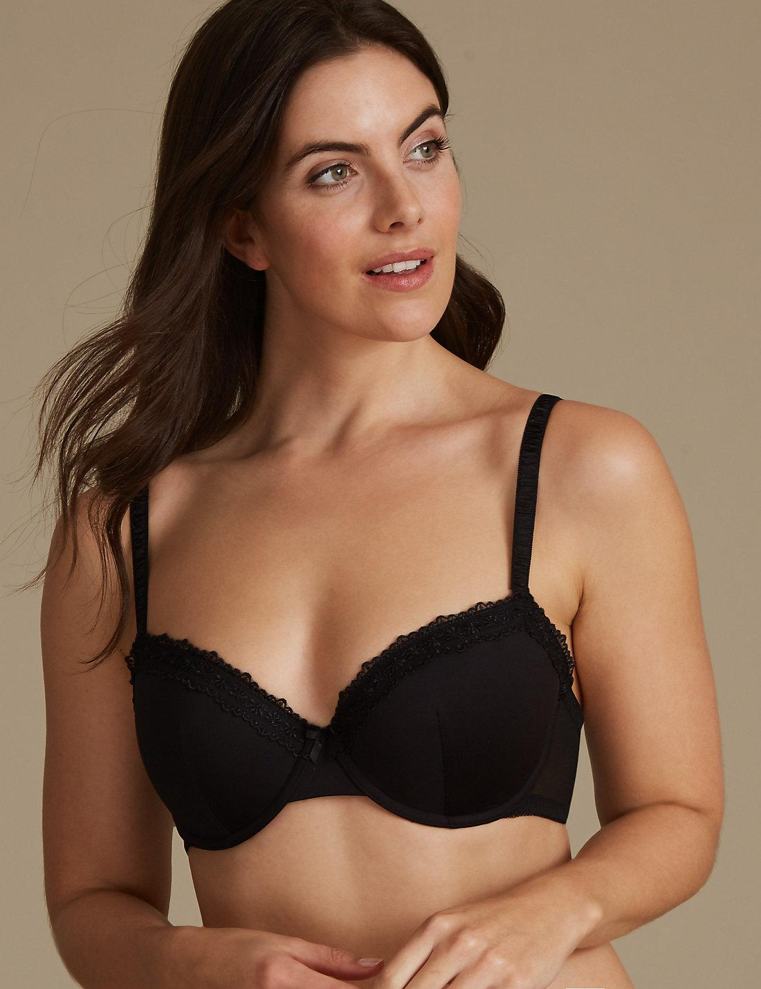0e37cec81ce67 Lyst - Marks   Spencer 2 Pack Padded Push-up Balcony Bras A-e
