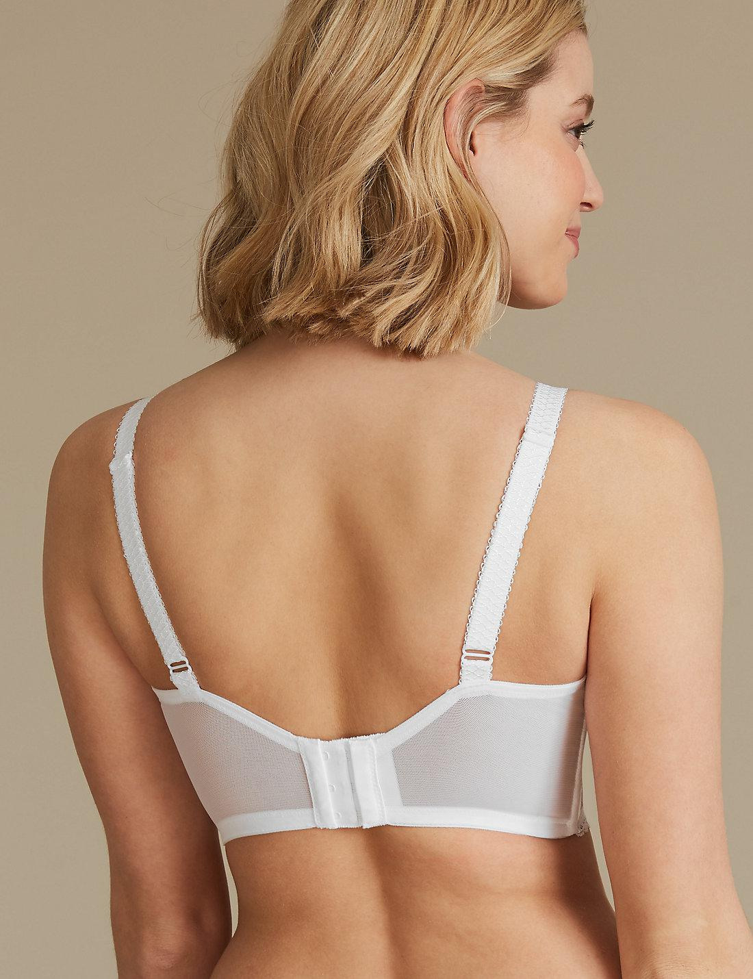 3693f31aeb57a Lyst - Marks   Spencer Louisa Lace Non-padded Full Cup Bra B-dd in White