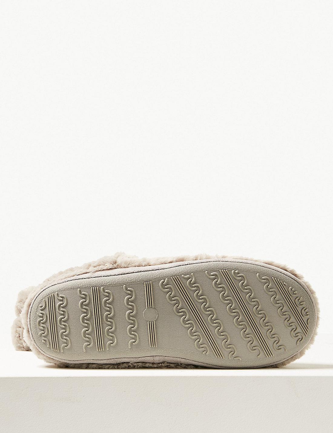 8cd0e8b74bd1 Lyst - Marks & Spencer Glitter Spotted Slipper Boots