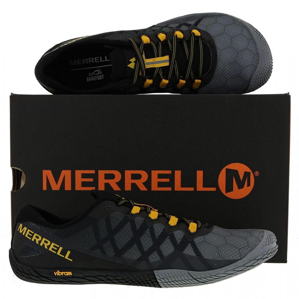 Merrell - Gray Vapor Glove 3 Barefoot Vegan Running Trail Shoes for Men -  Lyst. View fullscreen 31f0f9cd45