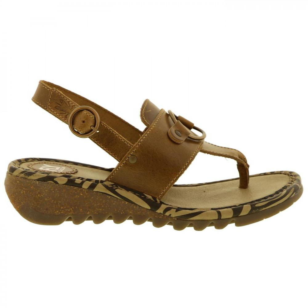 2d86f297efc4 Fly London - Brown Tune Leather Wedge Toe Post Sandals - Lyst. View  fullscreen