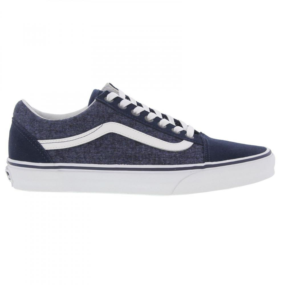 328fb471aa Vans Old Skool Classic Trainers Skate Shoes in Blue for Men - Lyst