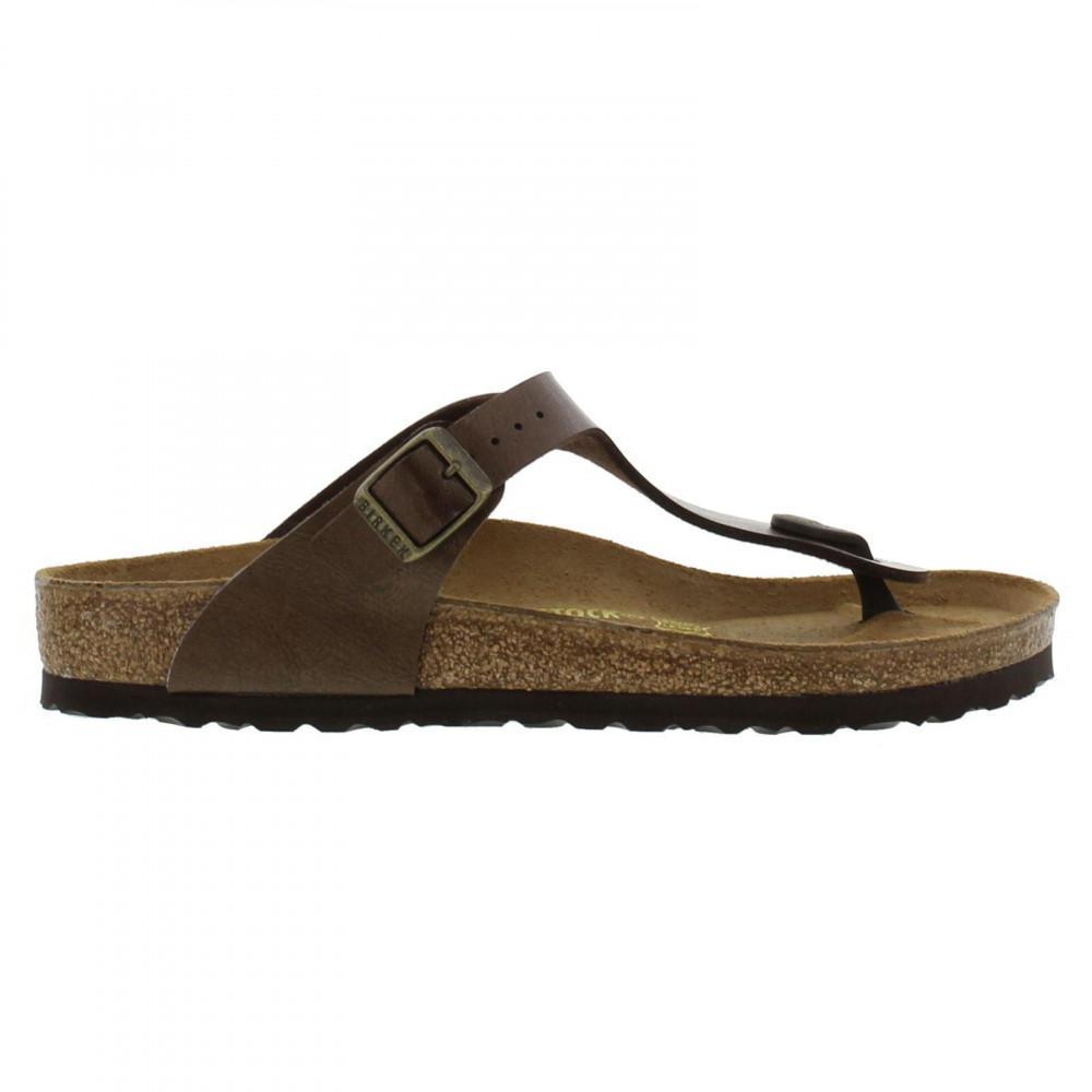 c0e48321f70 Birkenstock Gizeh Birko Flor Toe Post Sandals Regular Fit in Brown ...