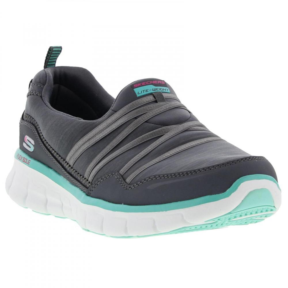 501b8f9f1a98 Skechers Synergy Scene Stealer Slip On Trainers Shoes in Gray - Lyst