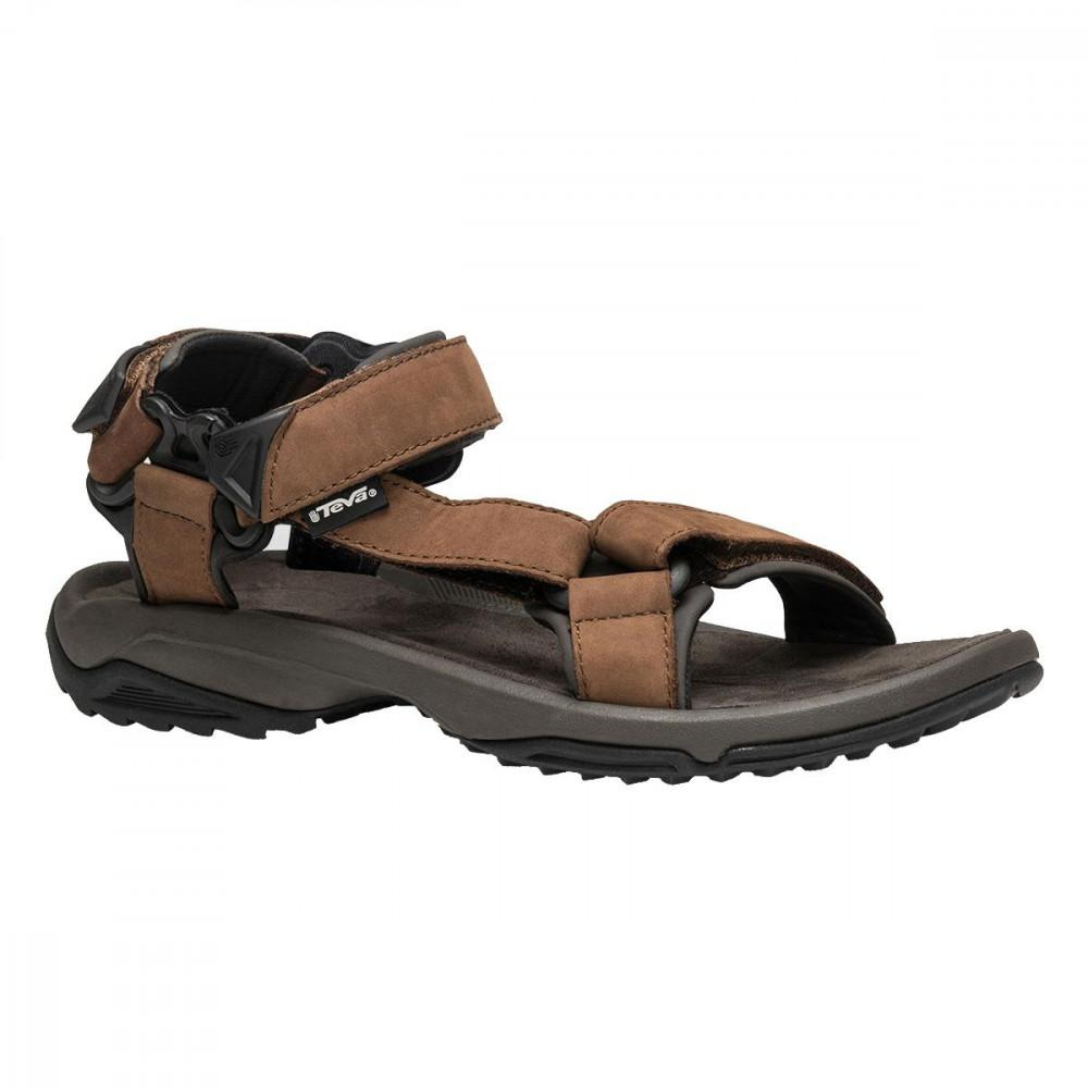 28ecf75e92a4 Teva - Brown Terra Fi Lite Leather Adjustable Walking Sandals for Men - Lyst.  View fullscreen