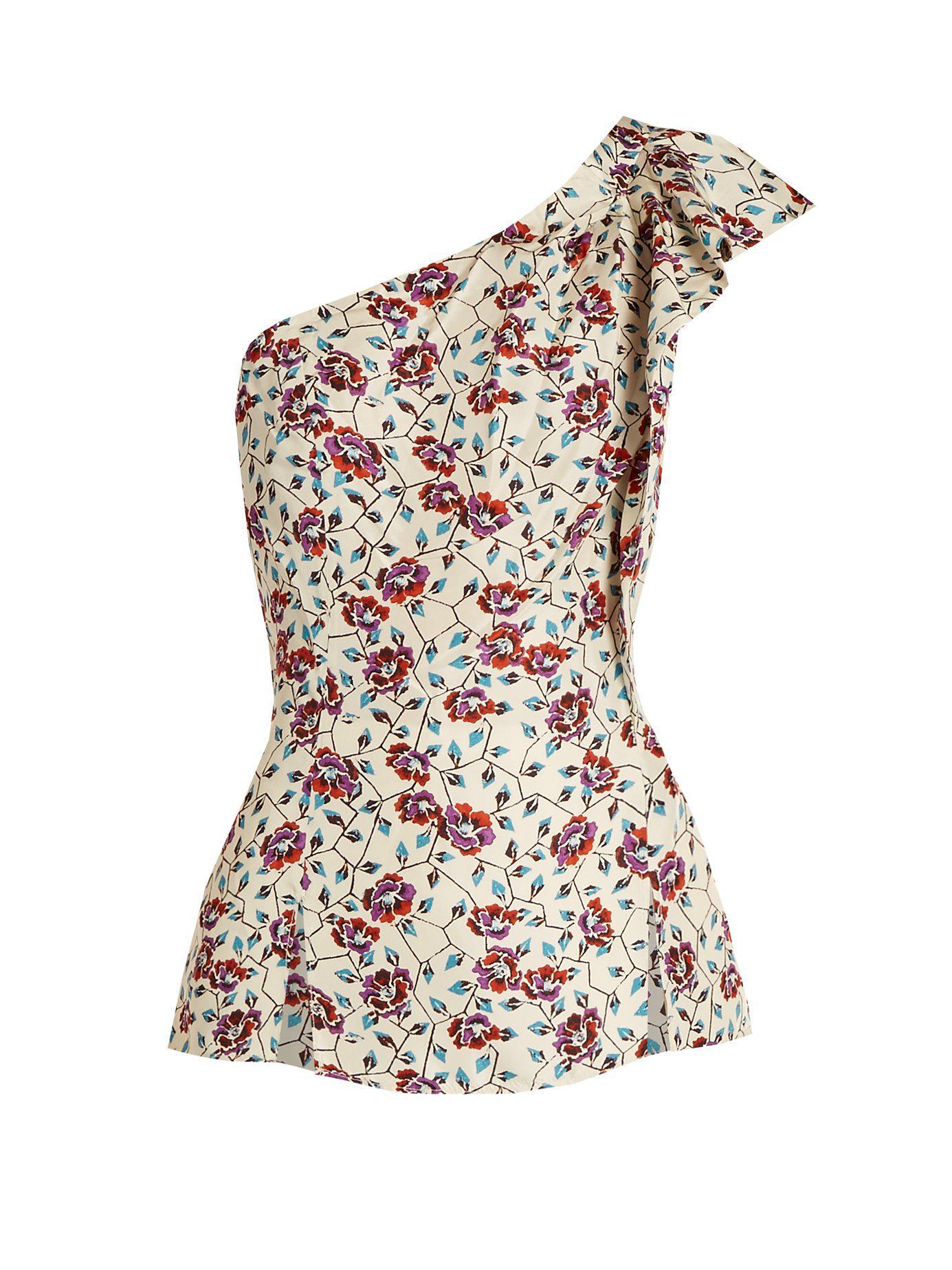 Isabel Marant Haut en soie à imprimé fleuri Rowina iLI0G6oSC