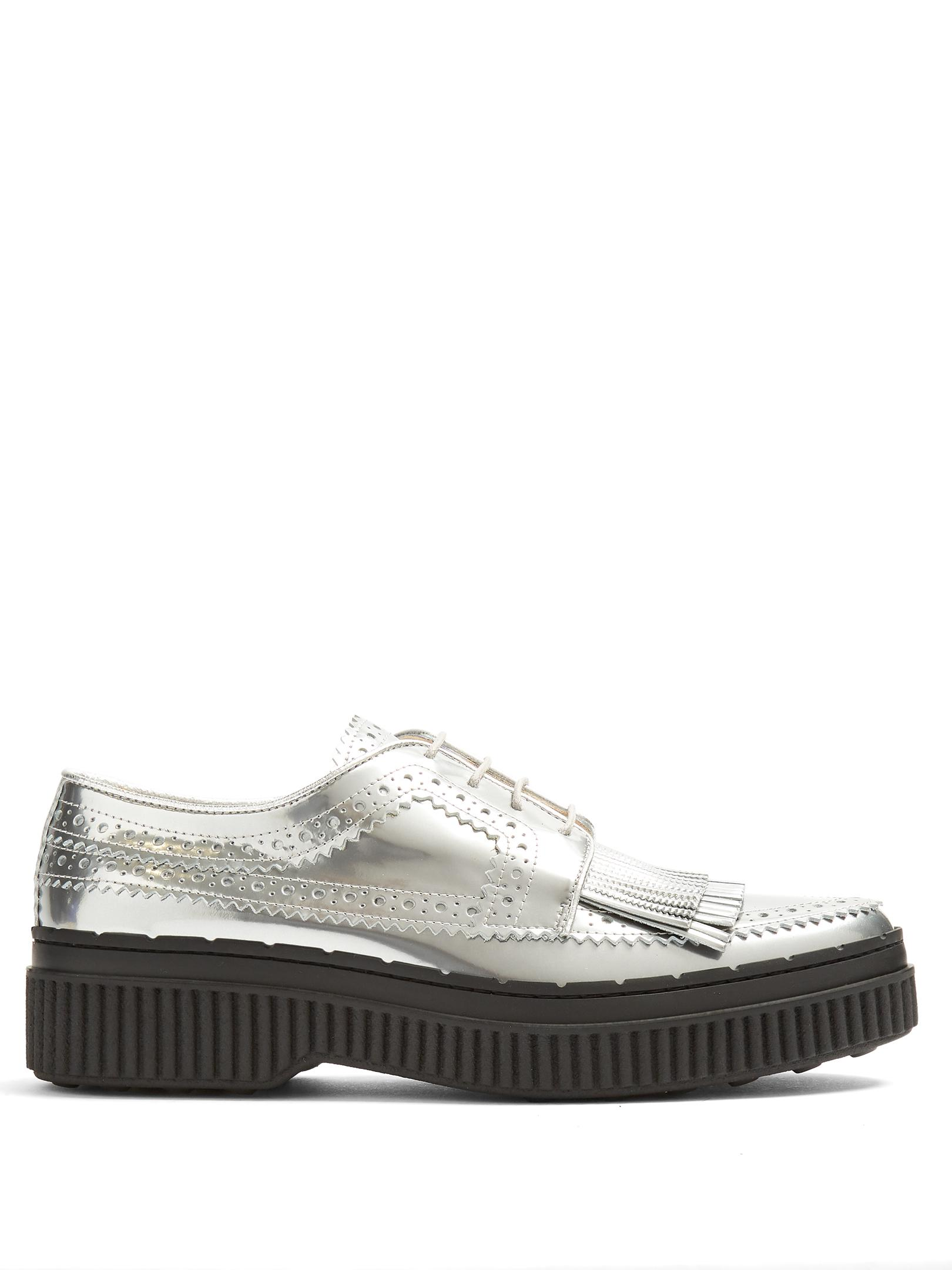New Arrival Fashion Tod's Fringed brogue-detail leather creepers Latest Collections Sale Online Fashion Style Cheap Price 2018 Cheap Online Discount Low Shipping Fee xi1Xsf