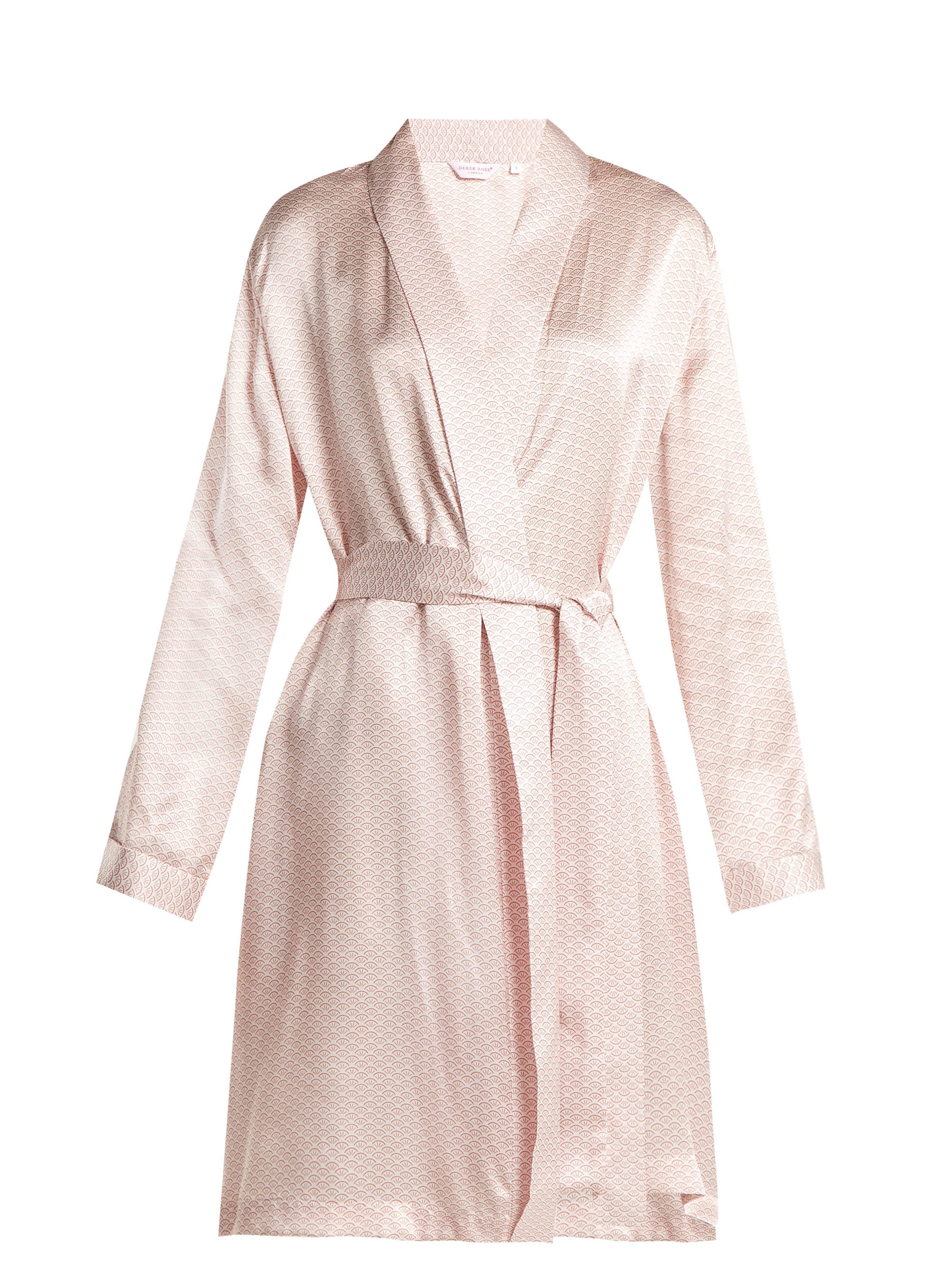 Derek Rose Brindisi 26 Kimono in Pink - Lyst 104750c52