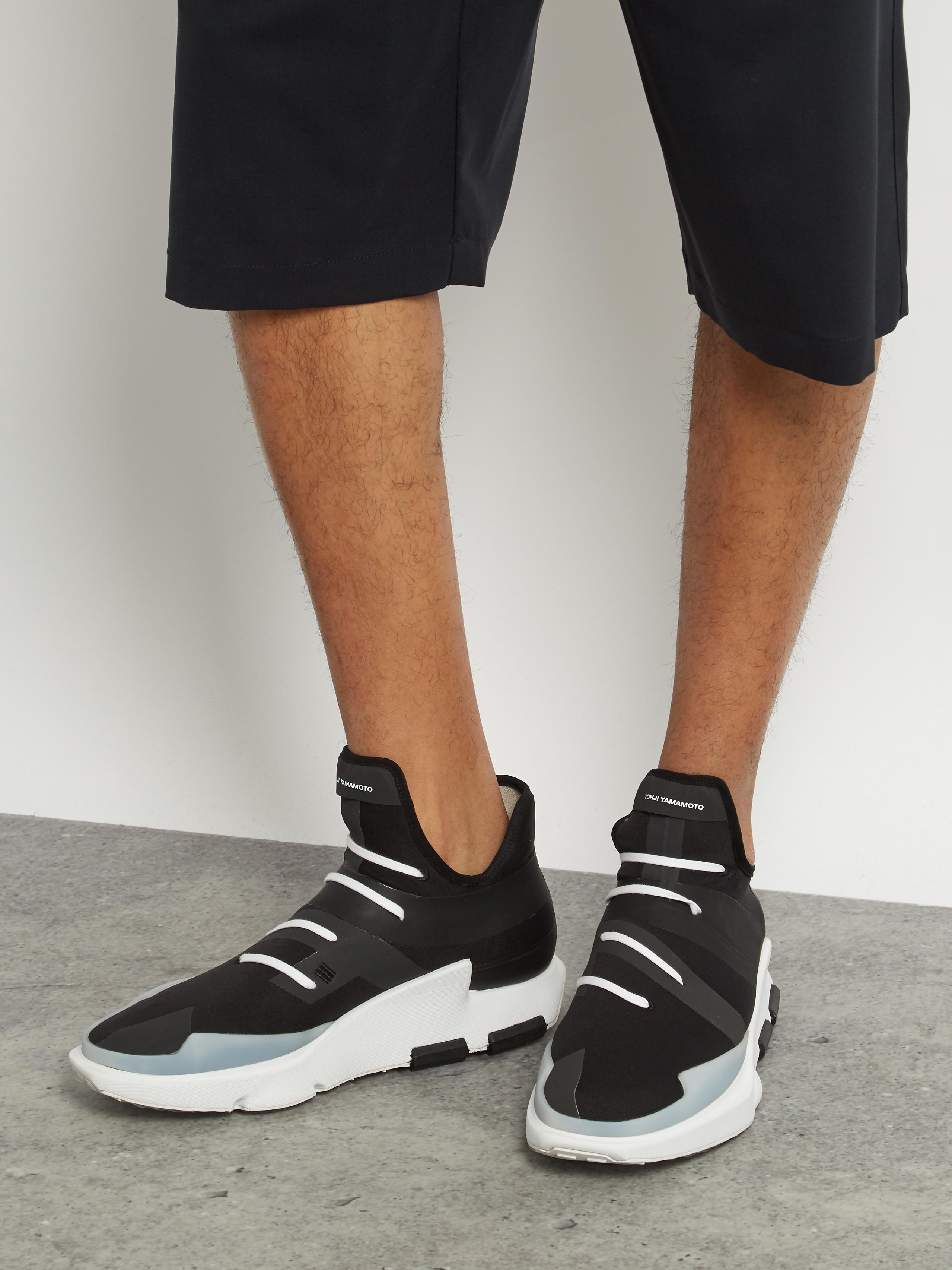 info for 98754 3f6c9 Y-3 Noci Low-top Trainers in Black for Men - Lyst