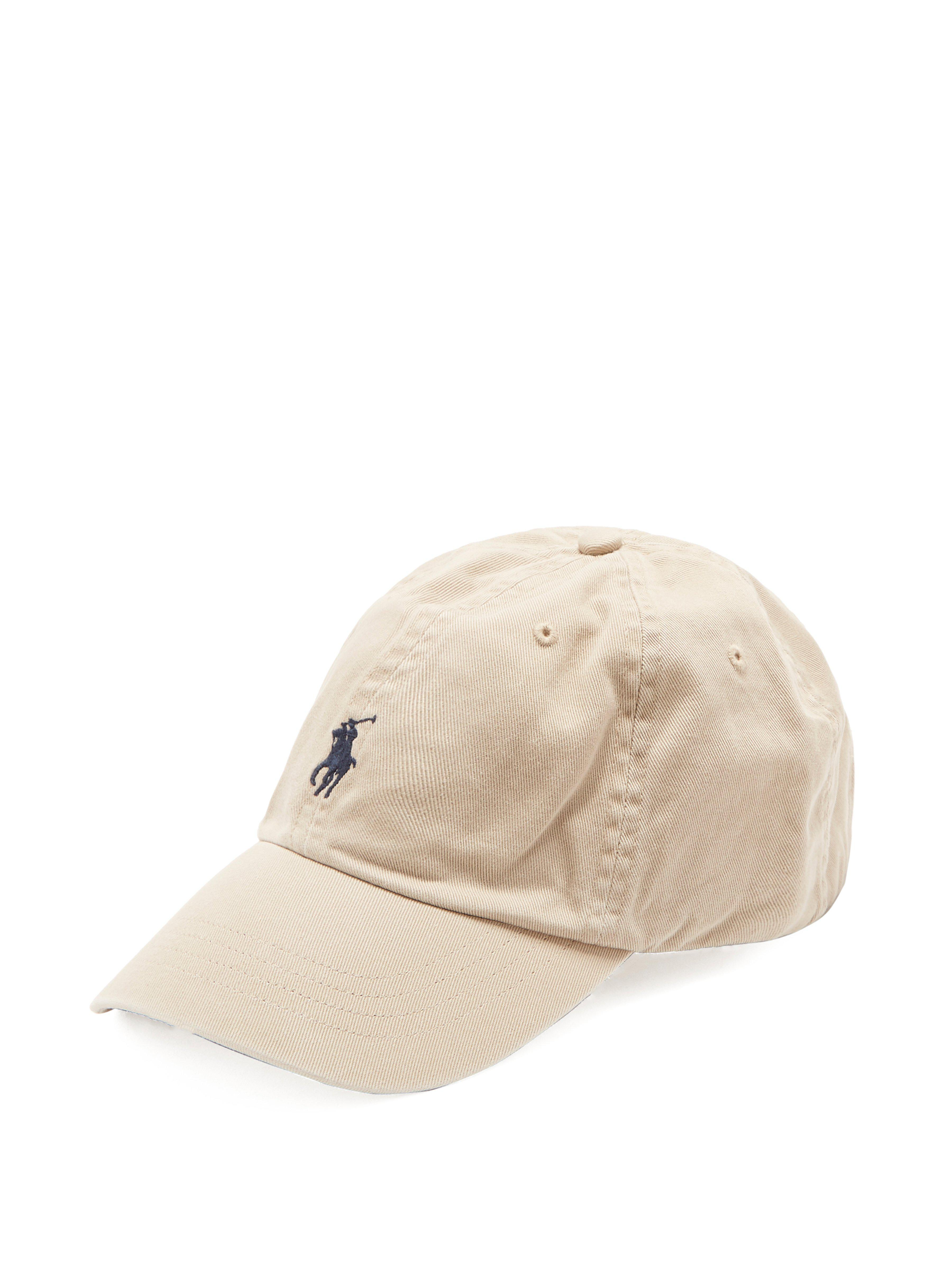 13b0d3b049f Polo Ralph Lauren Logo Embroidered Cotton Cap in Natural for Men - Lyst