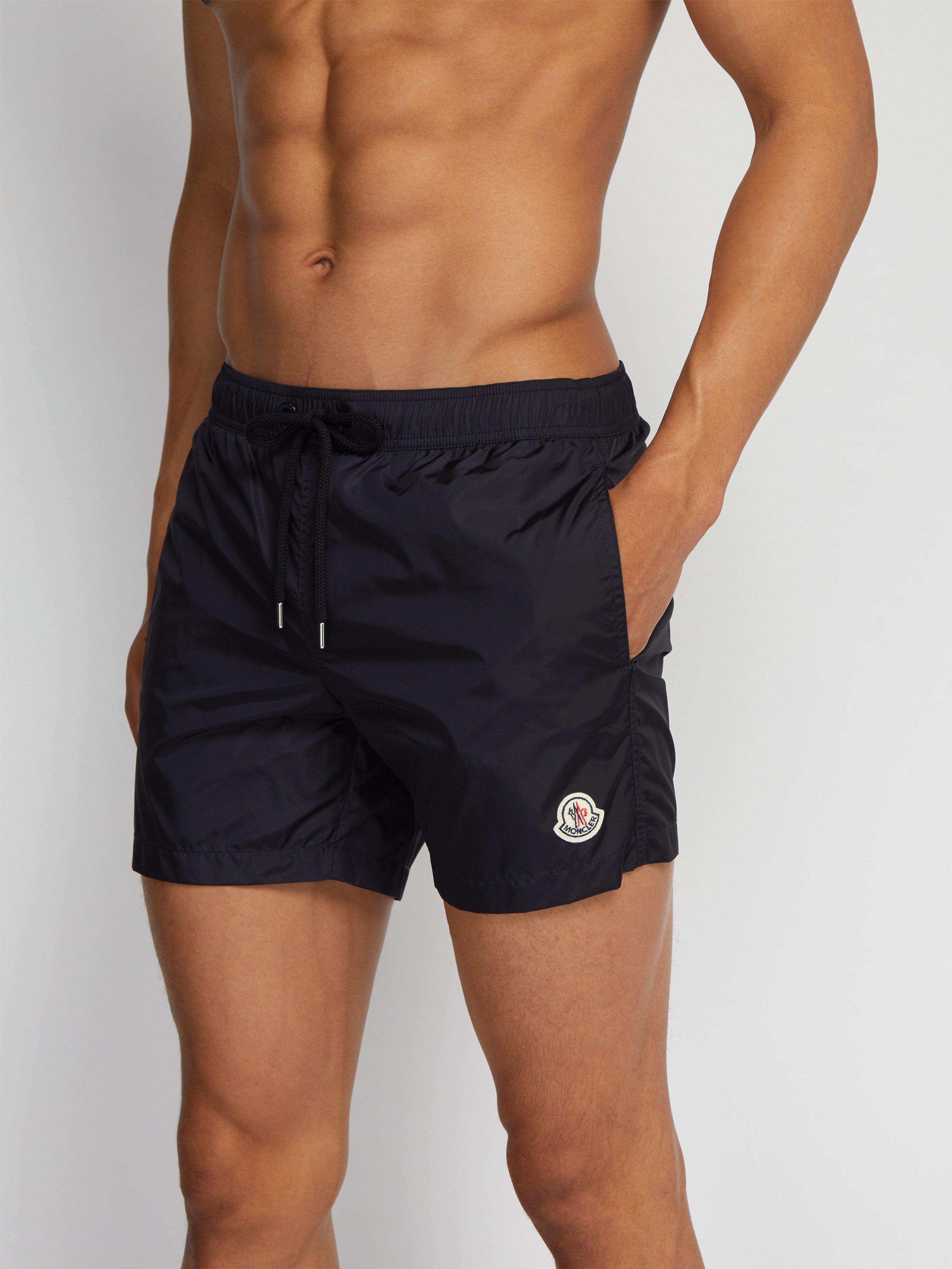 b367f78173 Moncler Logo Appliqué Swim Shorts in Blue for Men - Lyst