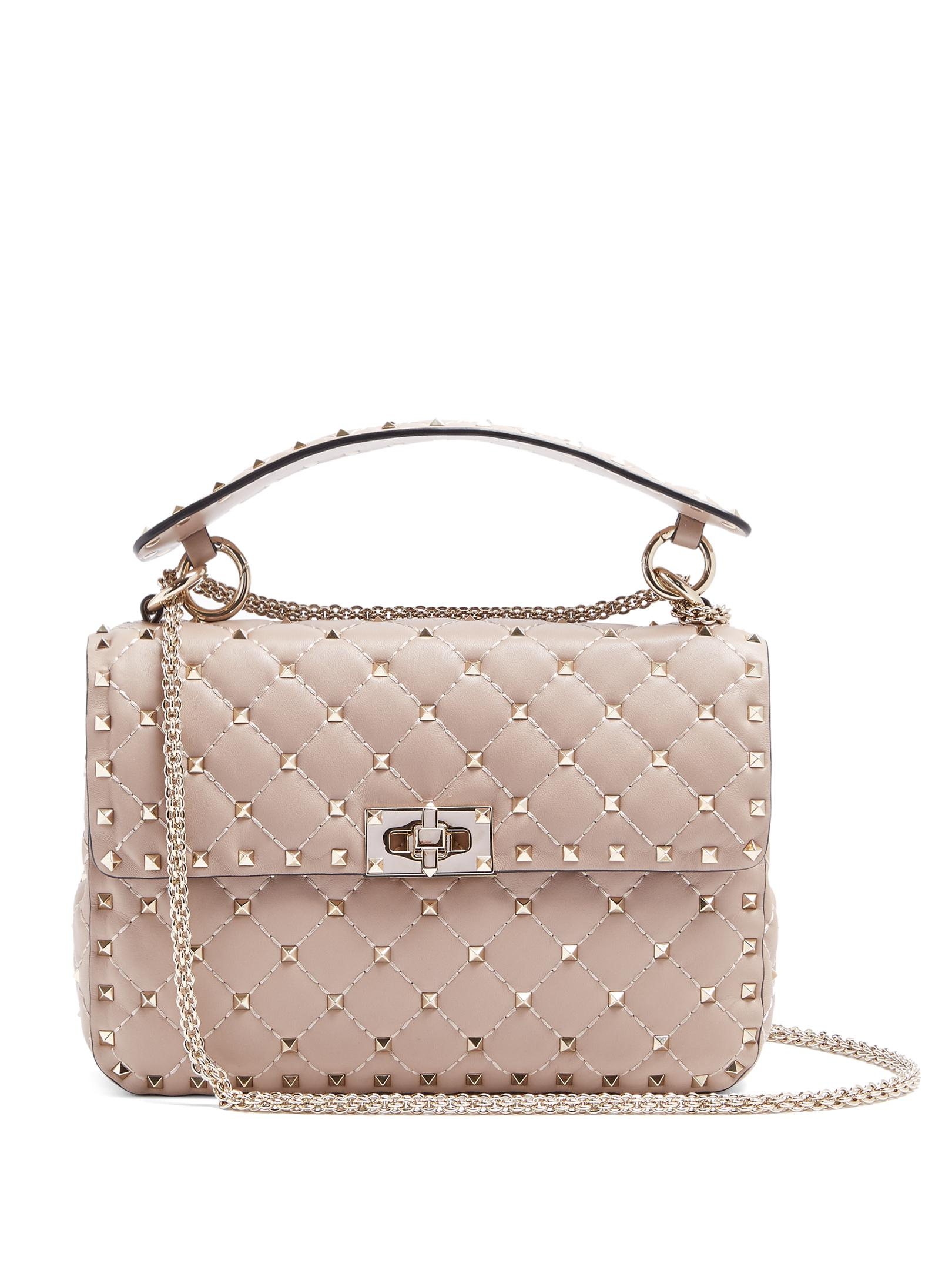 Medium Valentino Bag Shoulder Lyst Spike Leather Rockstud Quilted Ptqxxw7fa