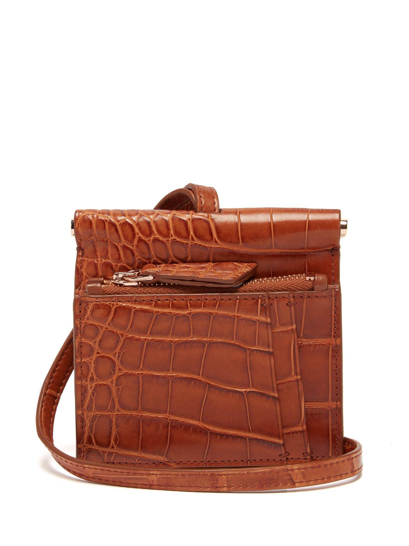 3ab1581111 Gabriela Hearst Maria Mini Crocodile Necklace Bag - Lyst