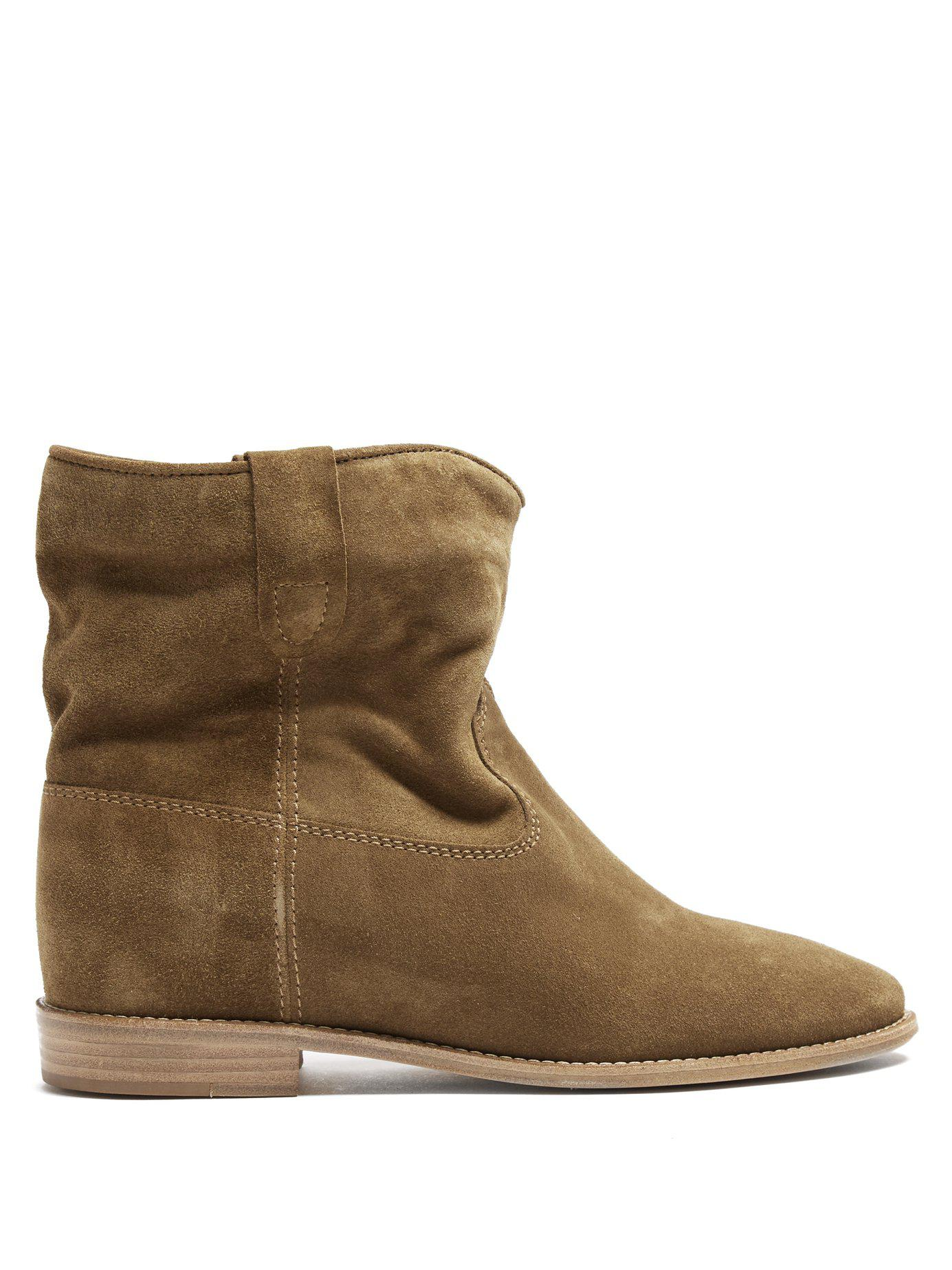fe5c680fe69e Lyst - Isabel Marant Crisi Suede Ankle Boots in Natural