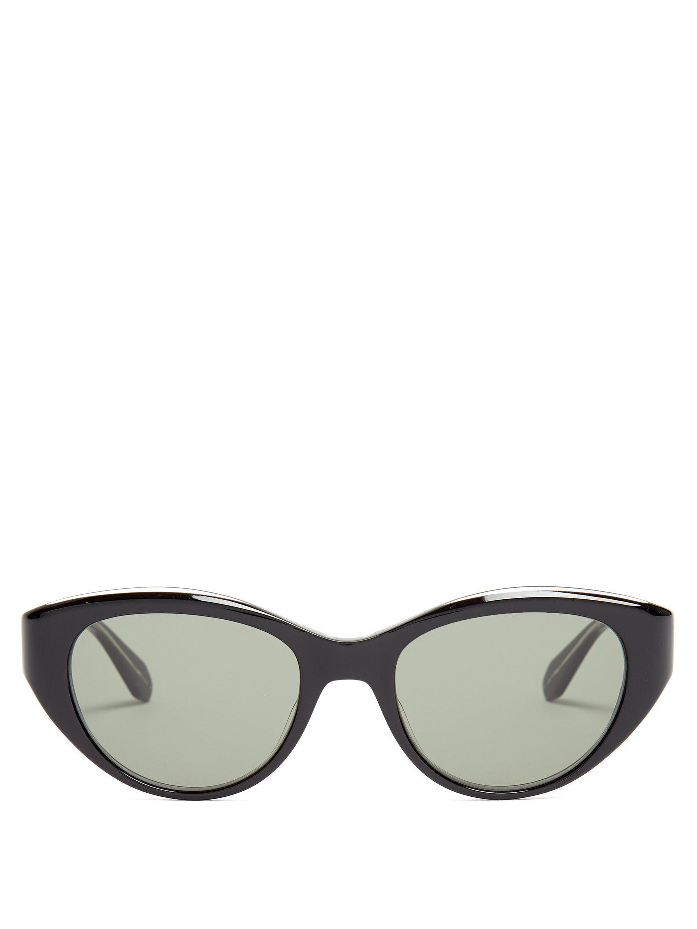 Del Rey round-frame cat-eye sunglasses Garrett Leight szzp6cSj