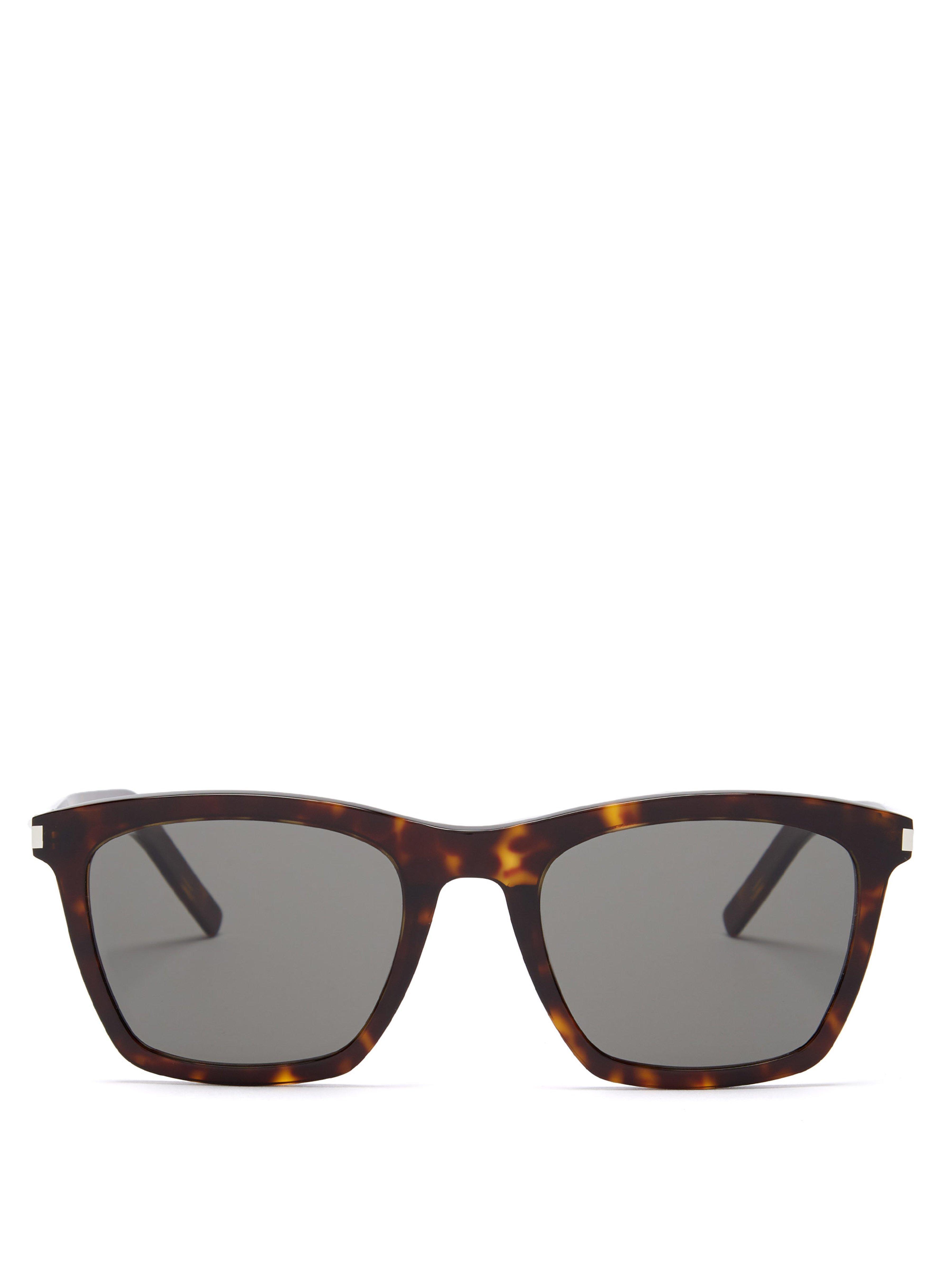 91abe08c3196 Saint Laurent D Frame Tortoiseshell Acetate Sunglasses in Brown for ...