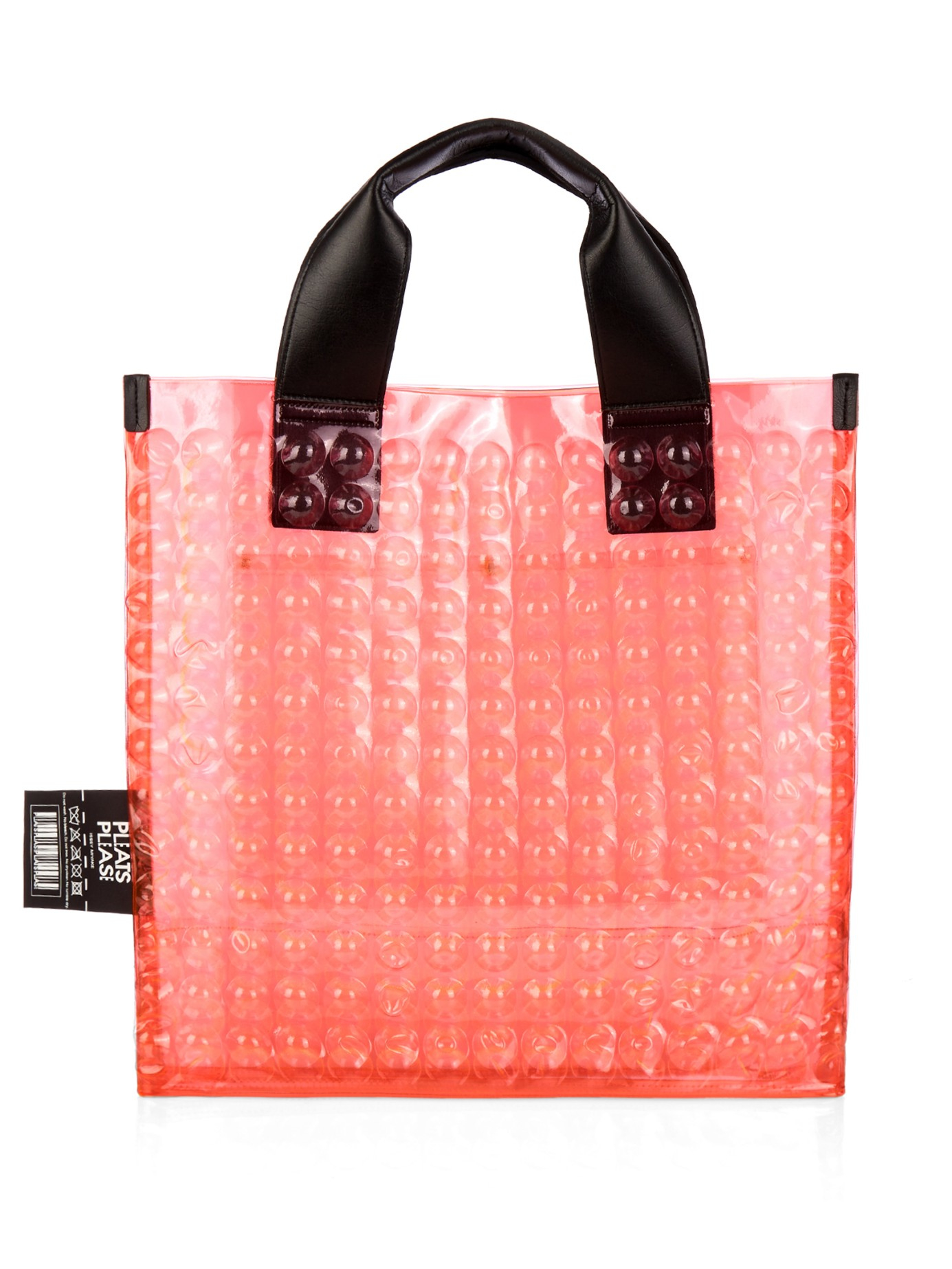 Lyst - Pleats Please Issey Miyake Puchi Puchi Bubble Tote in Black 5a472c7d63