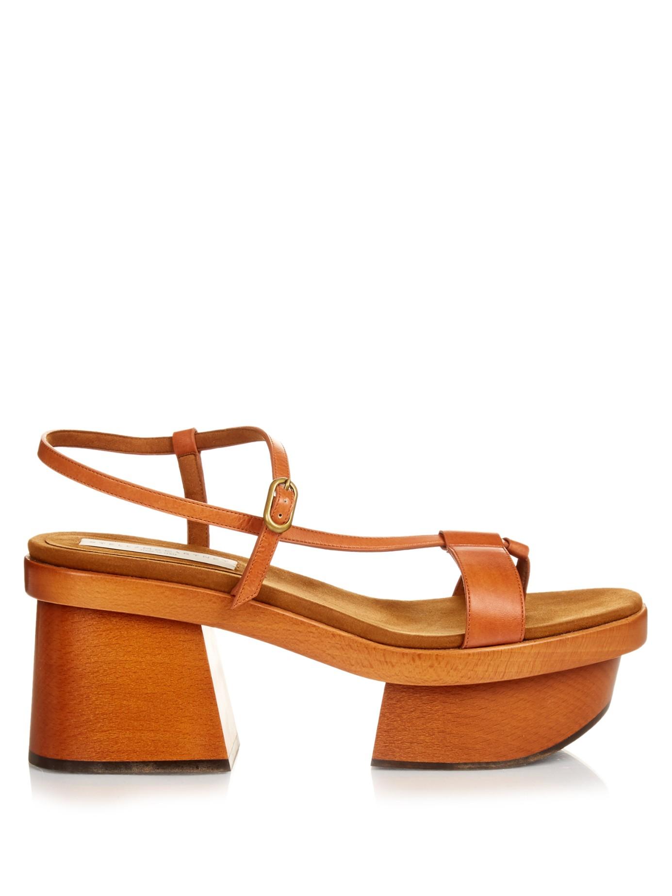 7e2918f8633 Lyst - Stella McCartney Altea Faux-leather Block-heel Platform ...