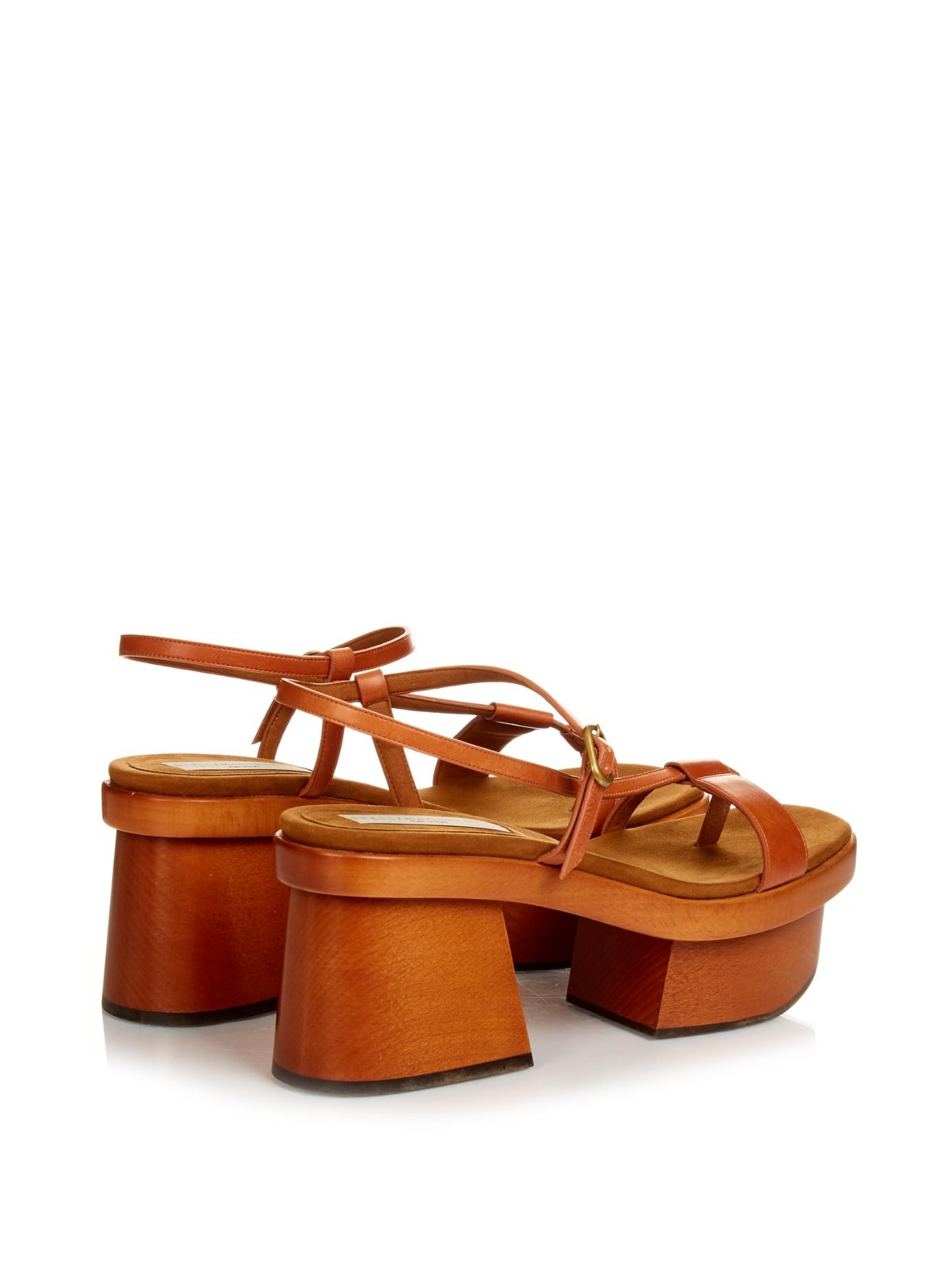 Stella mccartney Altea Faux-leather Block-heel Platform ...