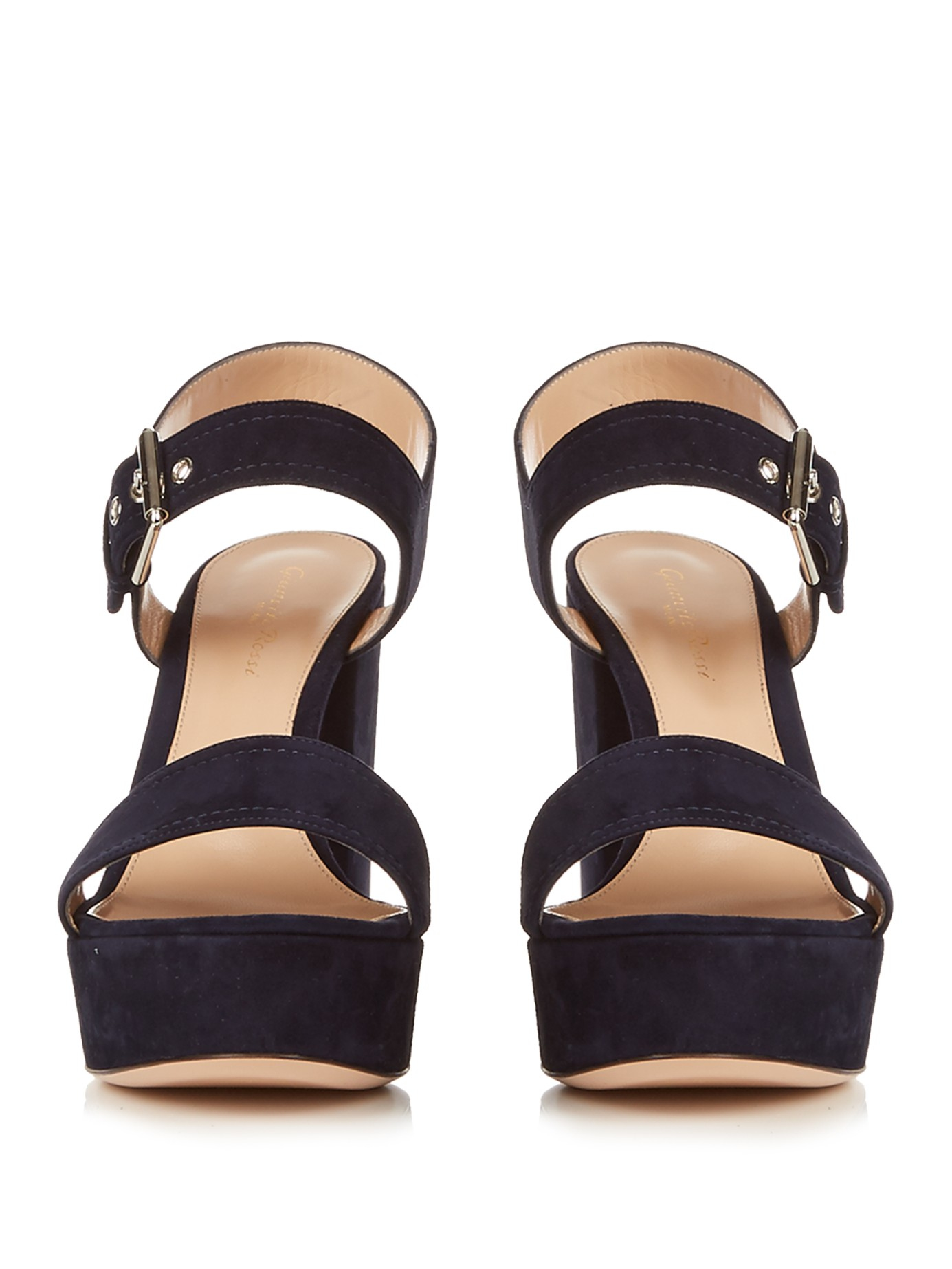 Lyst Gianvito Rossi Gina Suede Sandals In Black