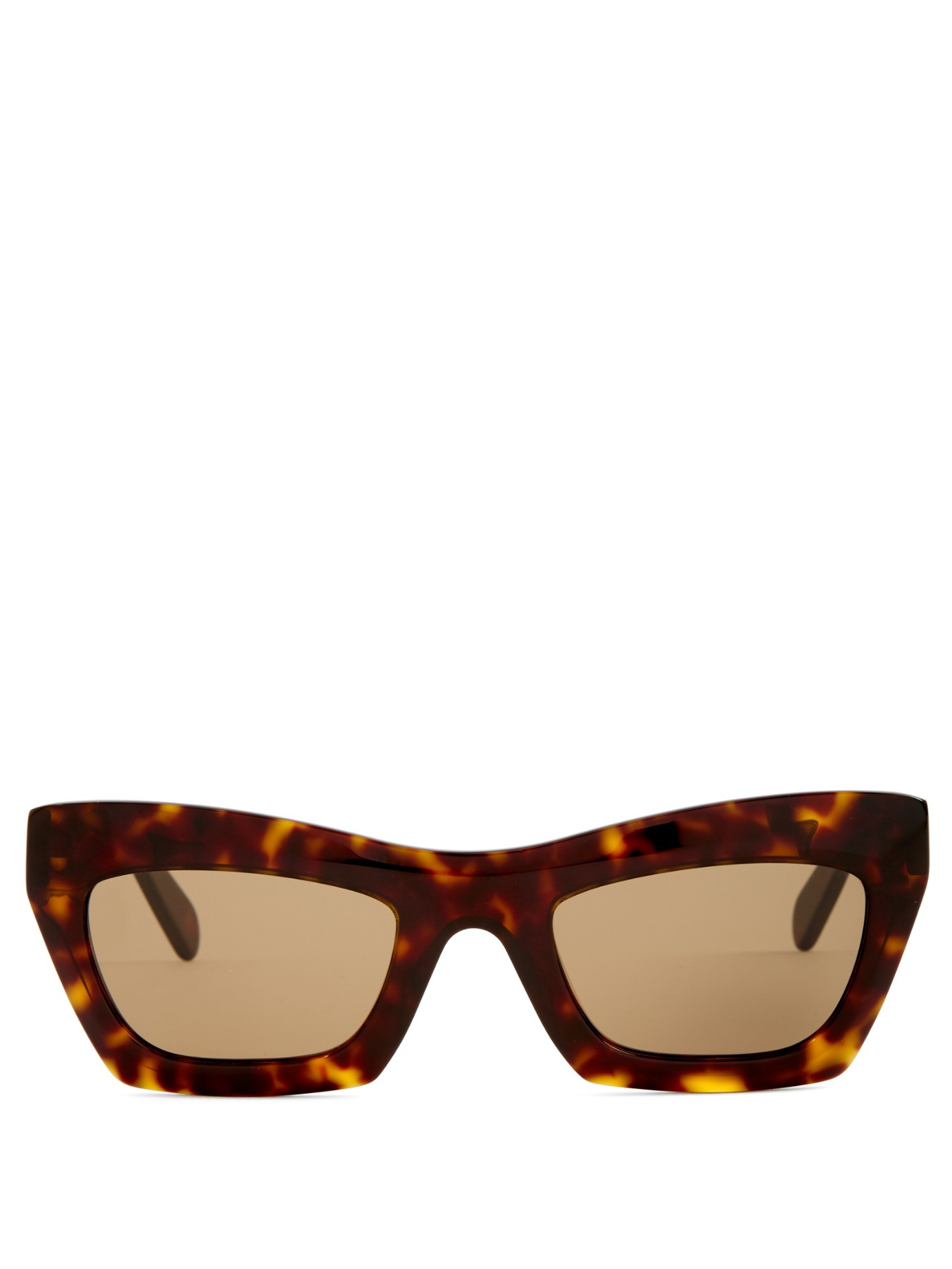 Celine Gold Frame Sunglasses : Celine Eva Rectangle-frame Sunglasses in Brown Lyst