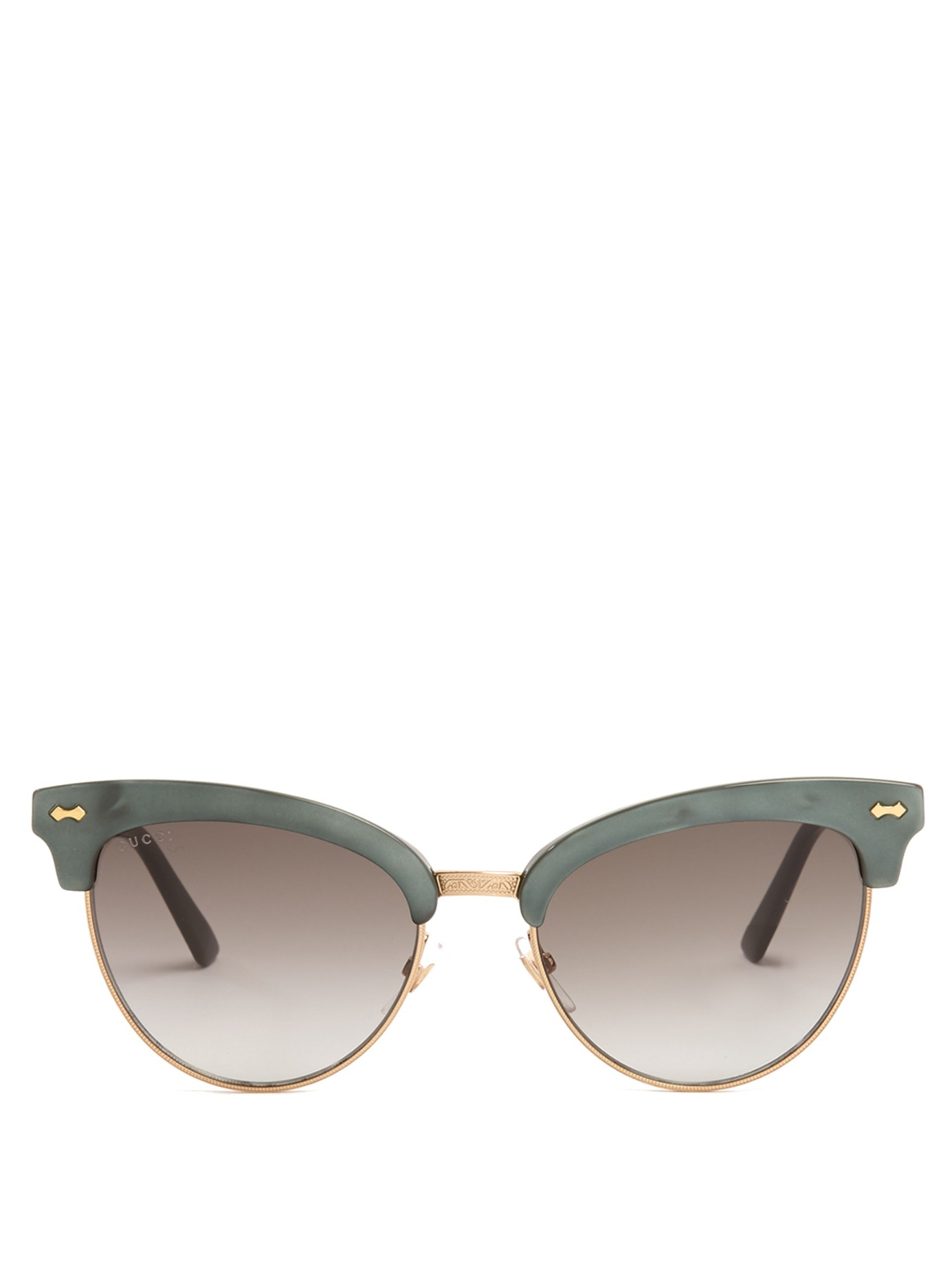 Half Frame Cat Glasses : Gucci Cat-eye Half-frame Sunglasses in Gray Lyst