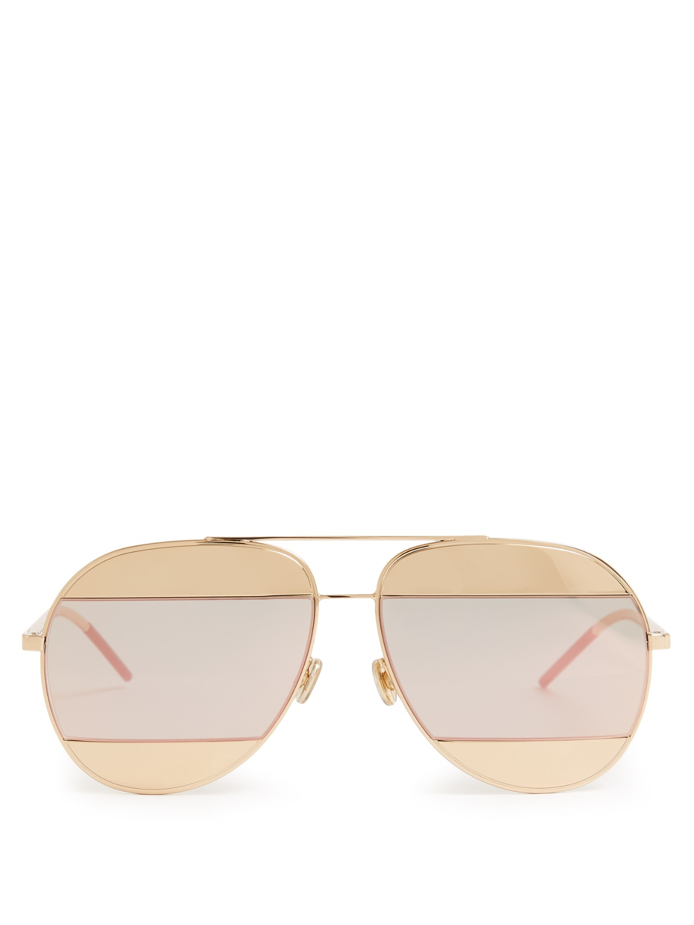 f18d811aca96 Dior Gold Aviator Sunglasses. Dior   39 chicago  39  Metal Aviator  Sunglasses