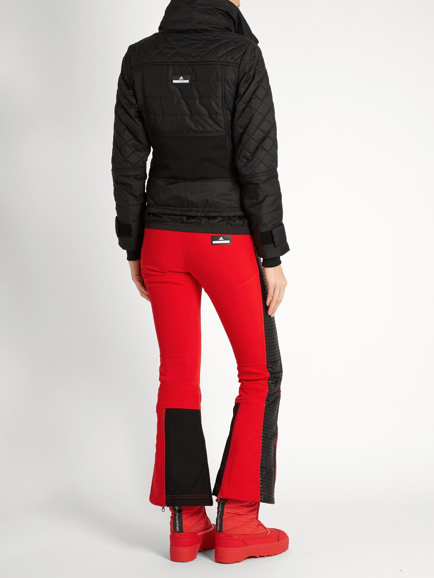 06d52b67f4f7 adidas By Stella McCartney Flared-leg Ski Trousers in Black - Lyst