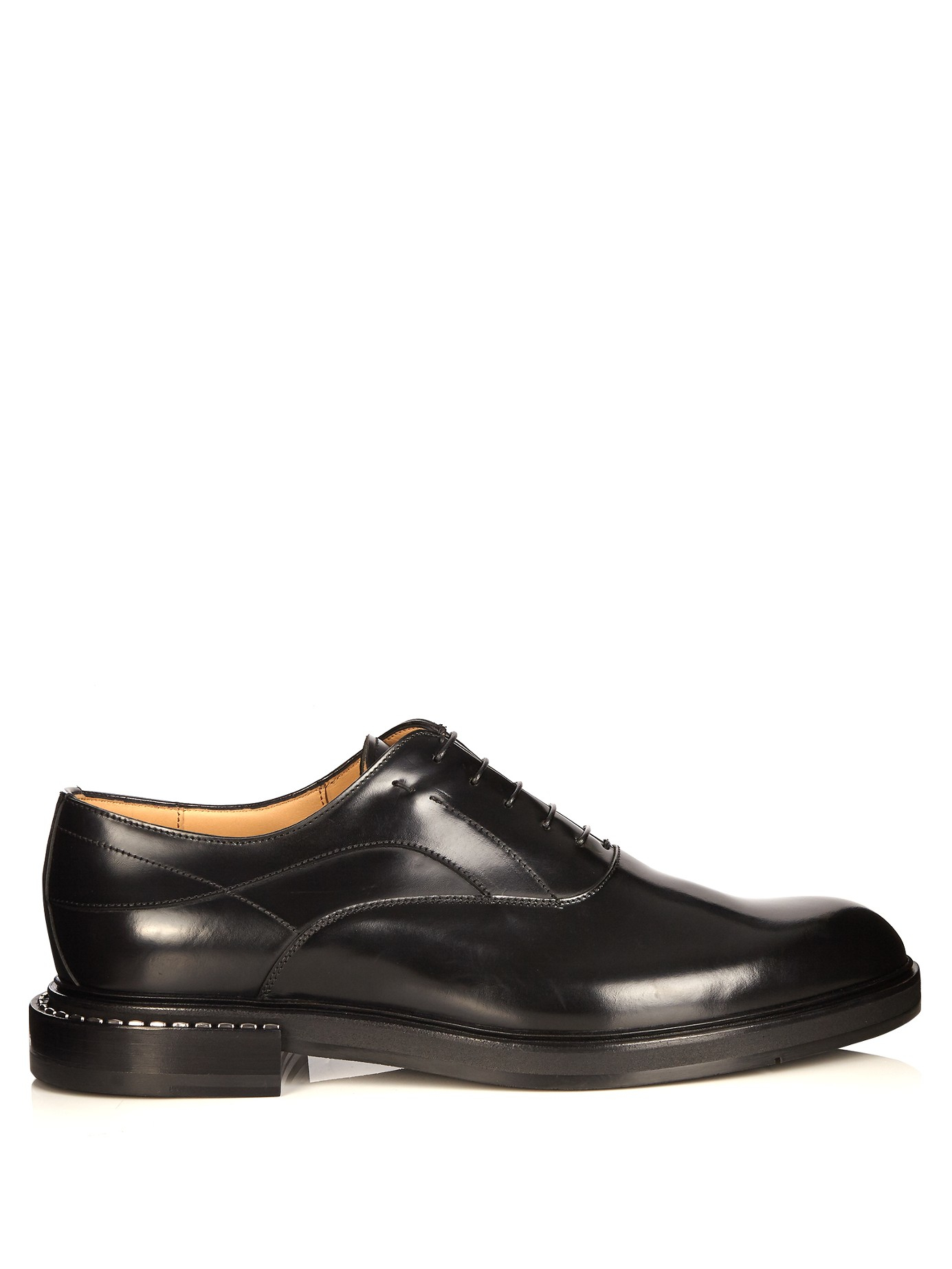 fendi leather derby shoes in black for lyst