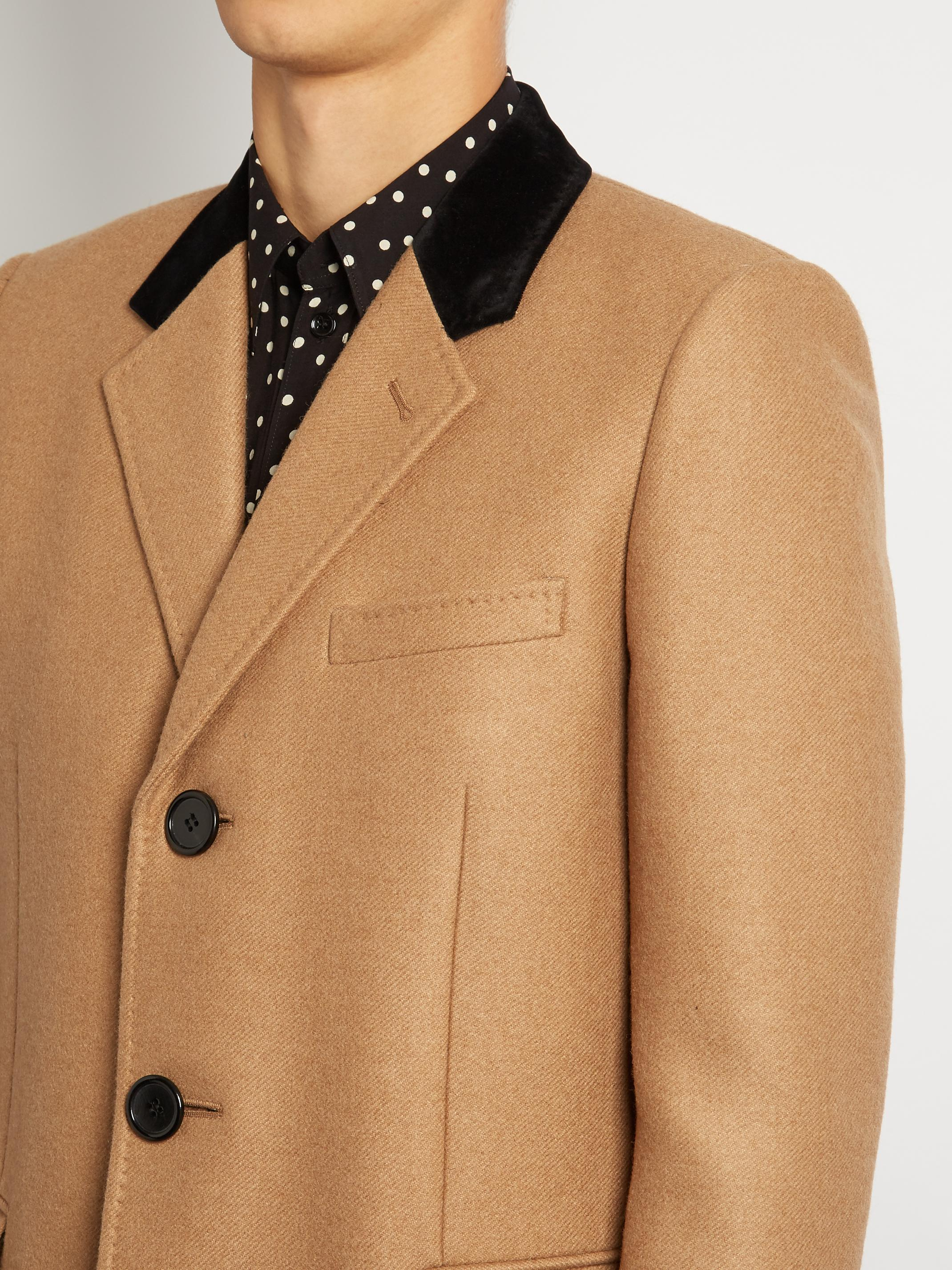 Camel hair overcoat
