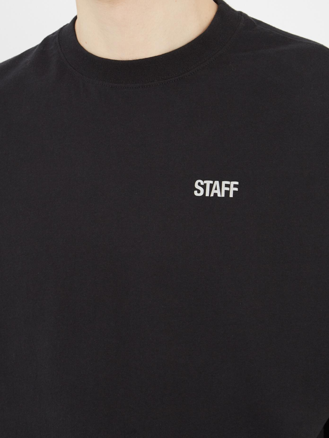 e6ff019ac216 Vetements Staff-print Oversized T-shirt in Black for Men - Lyst