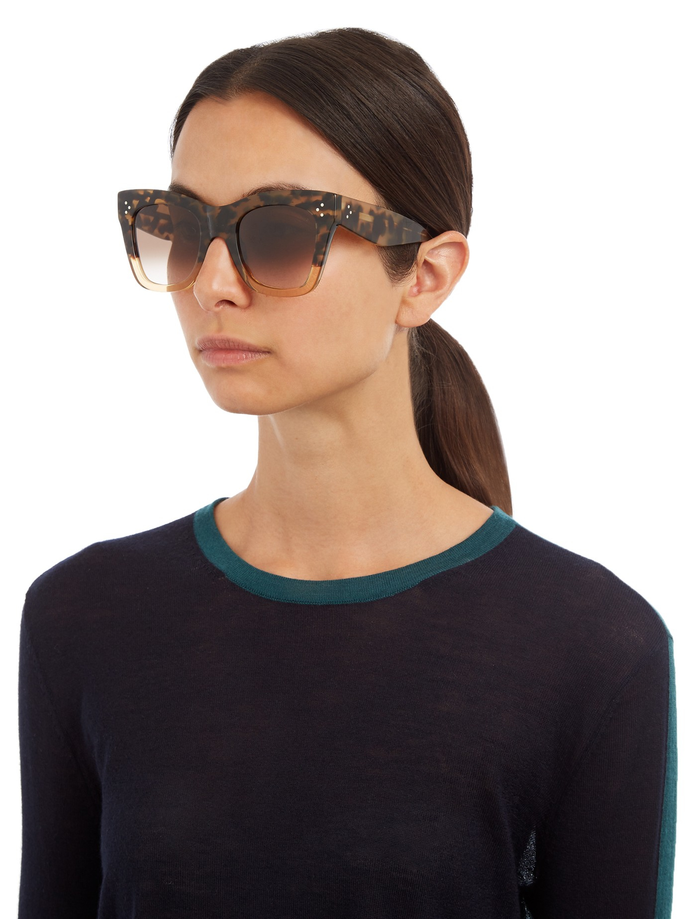 Lyst C 233 Line Catherine D Frame Acetate Sunglasses In Brown