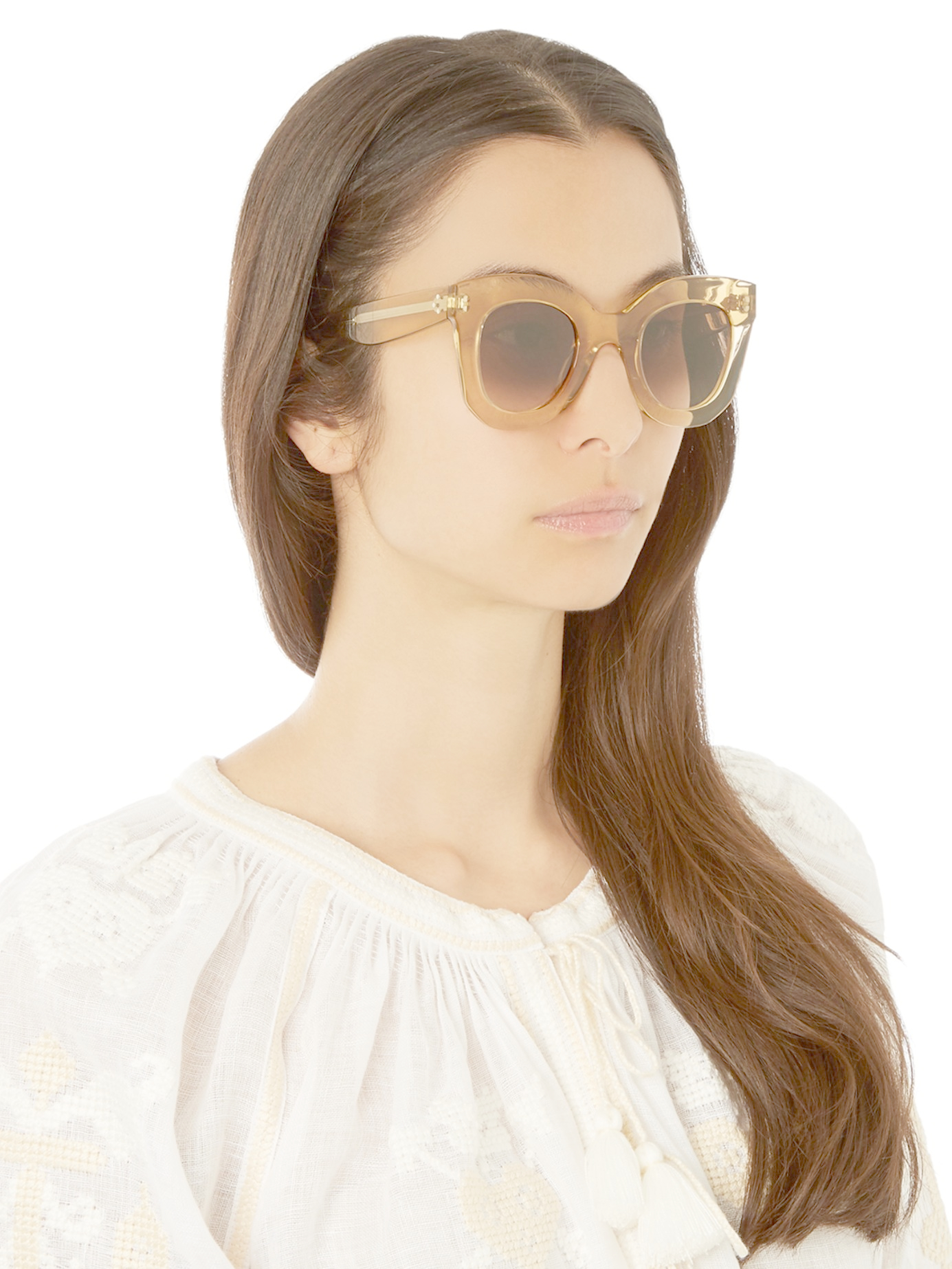 8b1c46a145c Lyst - Céline Baby Marta Acetate Sunglasses in Yellow