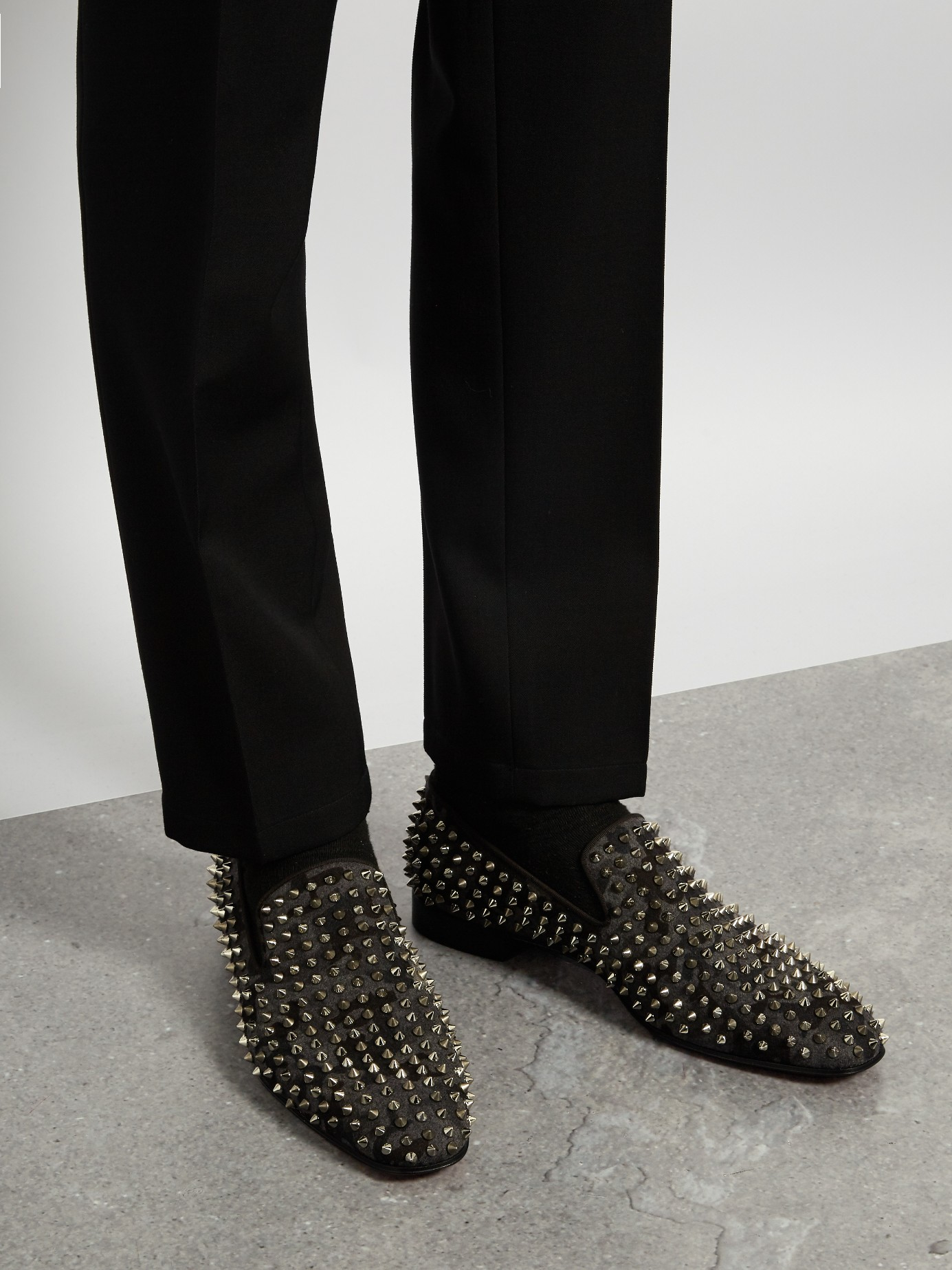 d1949510cd36 Lyst - Christian Louboutin Dandelion Camouflage Spike Loafers in ...