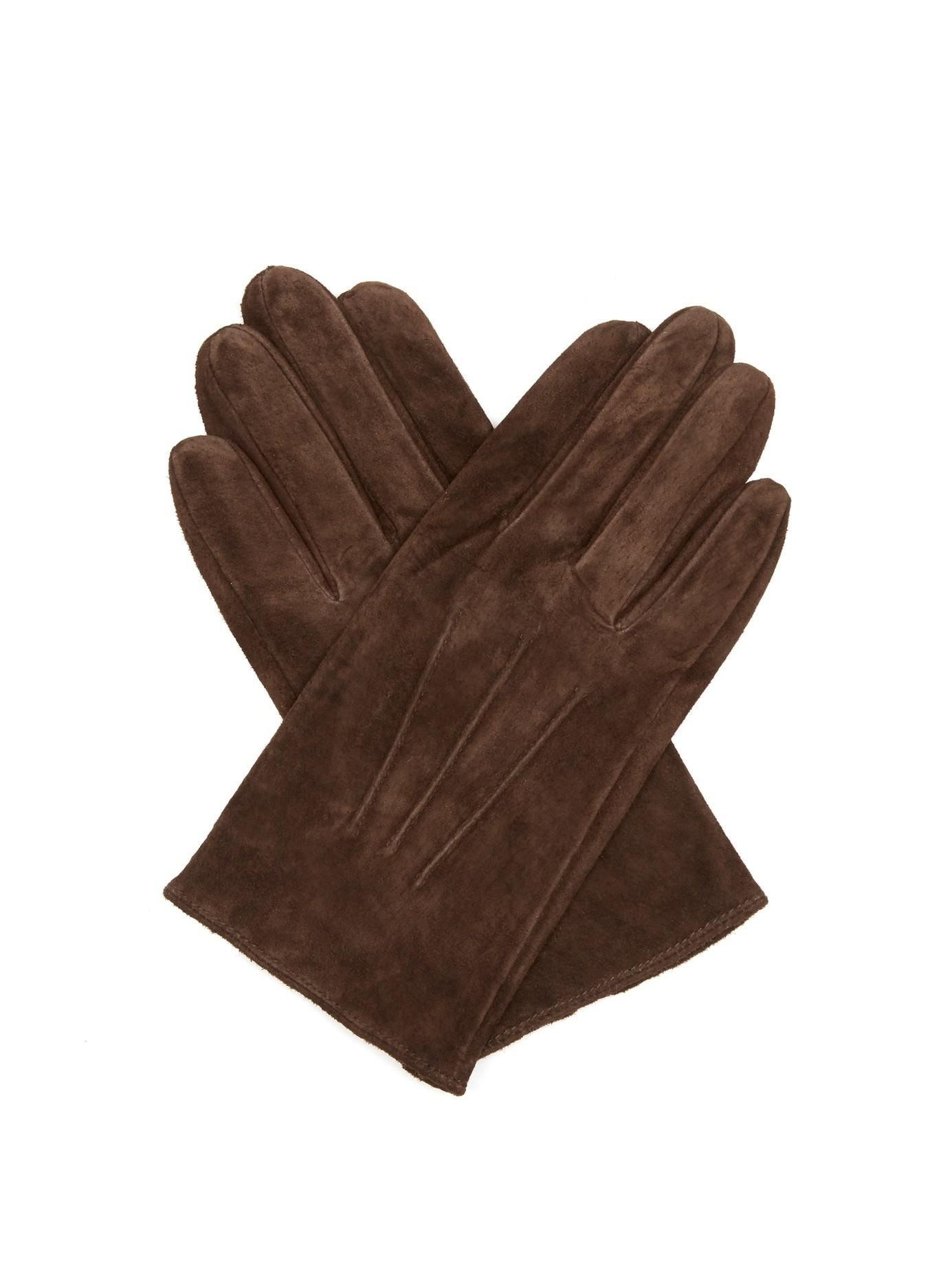 dents truro suede gloves in brown for men lyst