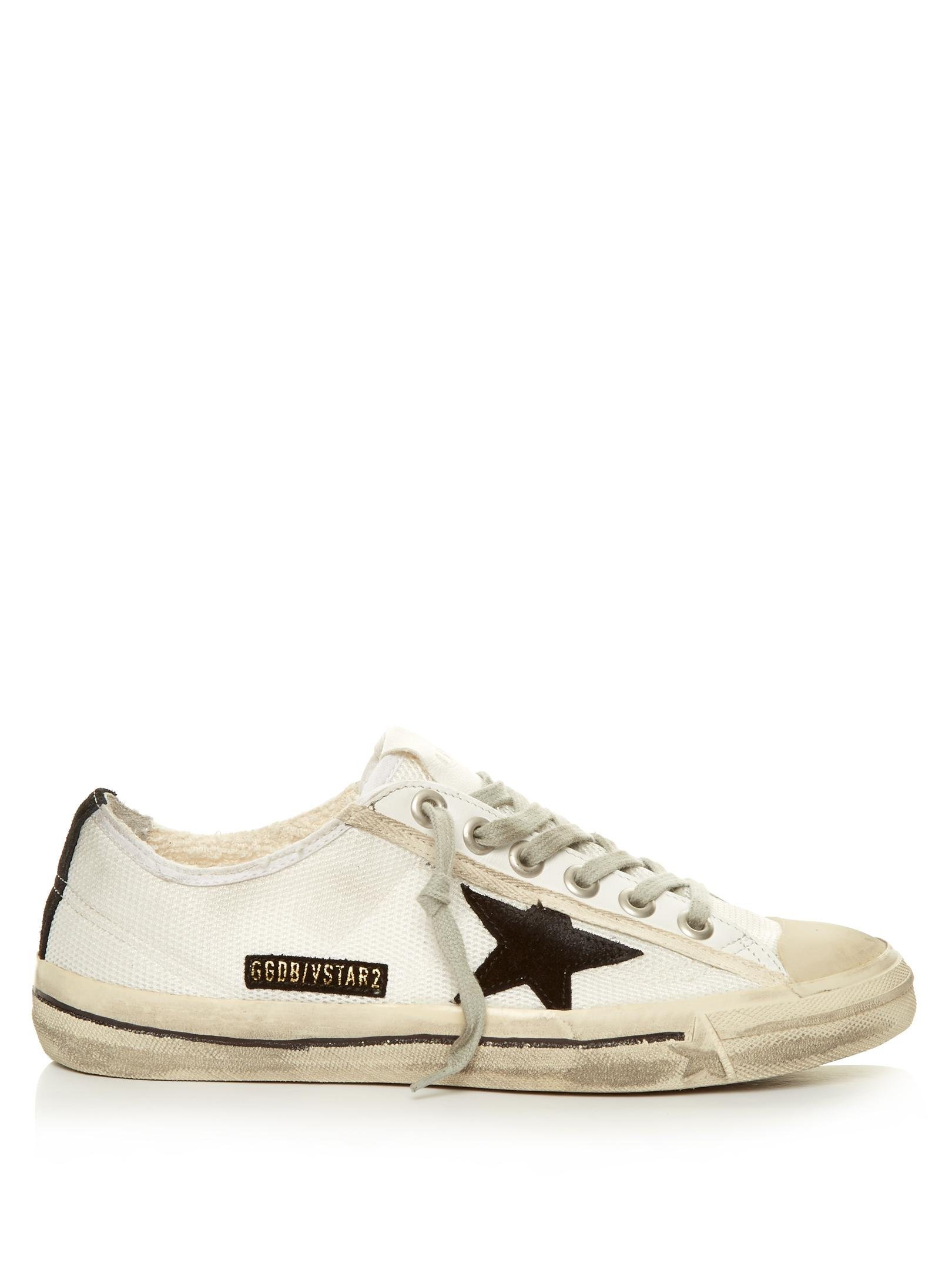 golden goose deluxe brand v star low top mesh trainers in white lyst. Black Bedroom Furniture Sets. Home Design Ideas