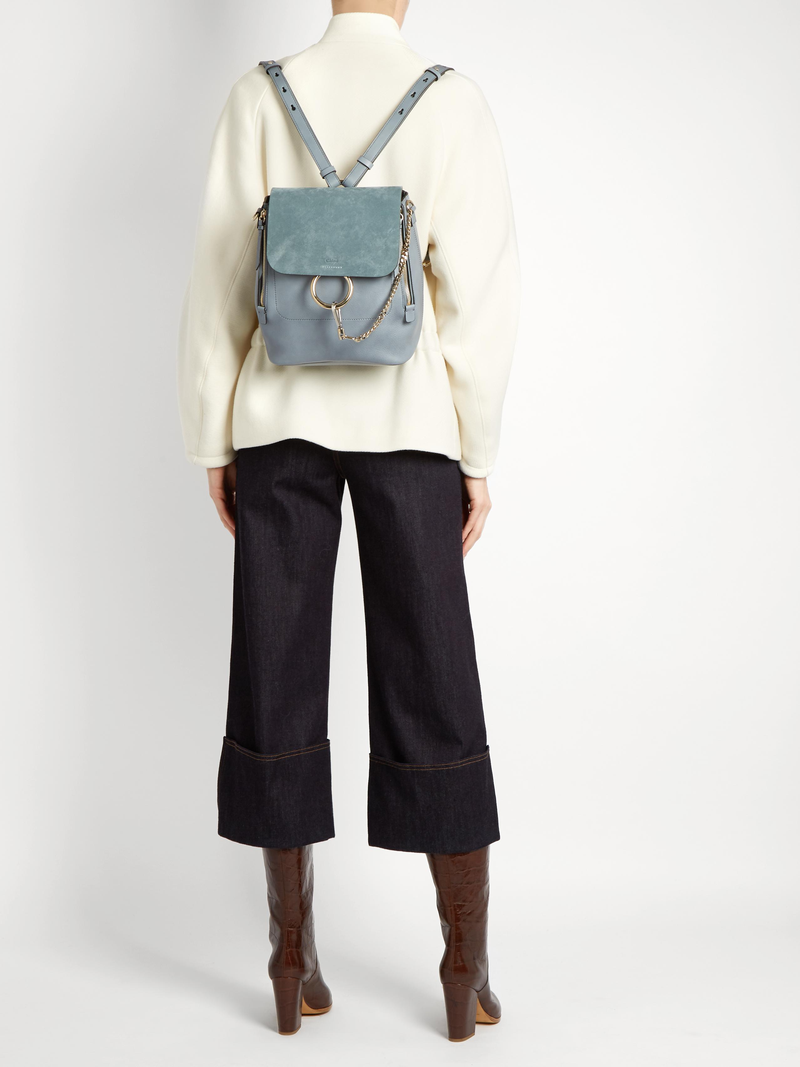 Blue Mini Faye Backpack Chloé Discount Visa Payment Outlet Low Shipping Fee 8mLPd41