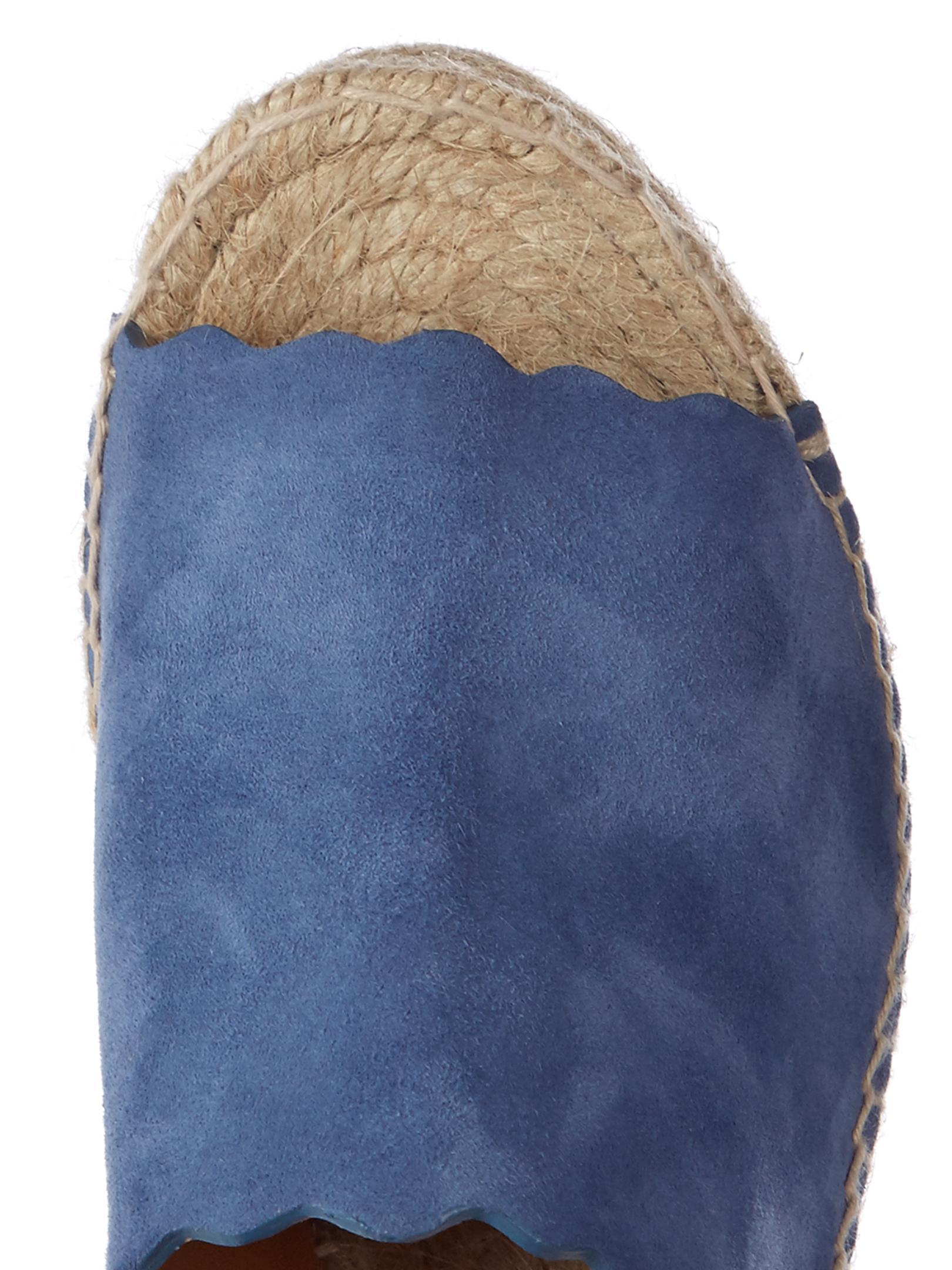 5f7ee10872419 Lyst - Chloé Lauren Suede Espadrille Wedge Sandals in Blue