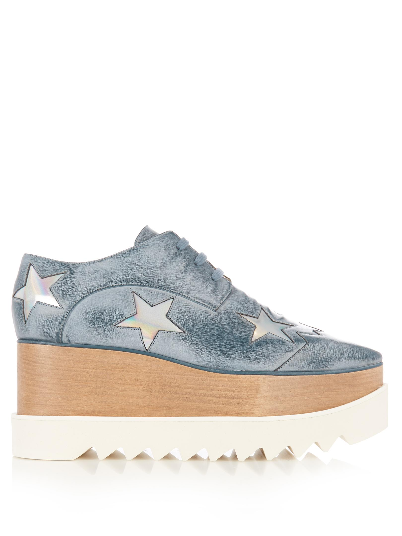 20b88dfb5a4 Lyst - Stella McCartney Elyse Lace-up Platform Shoes in Blue