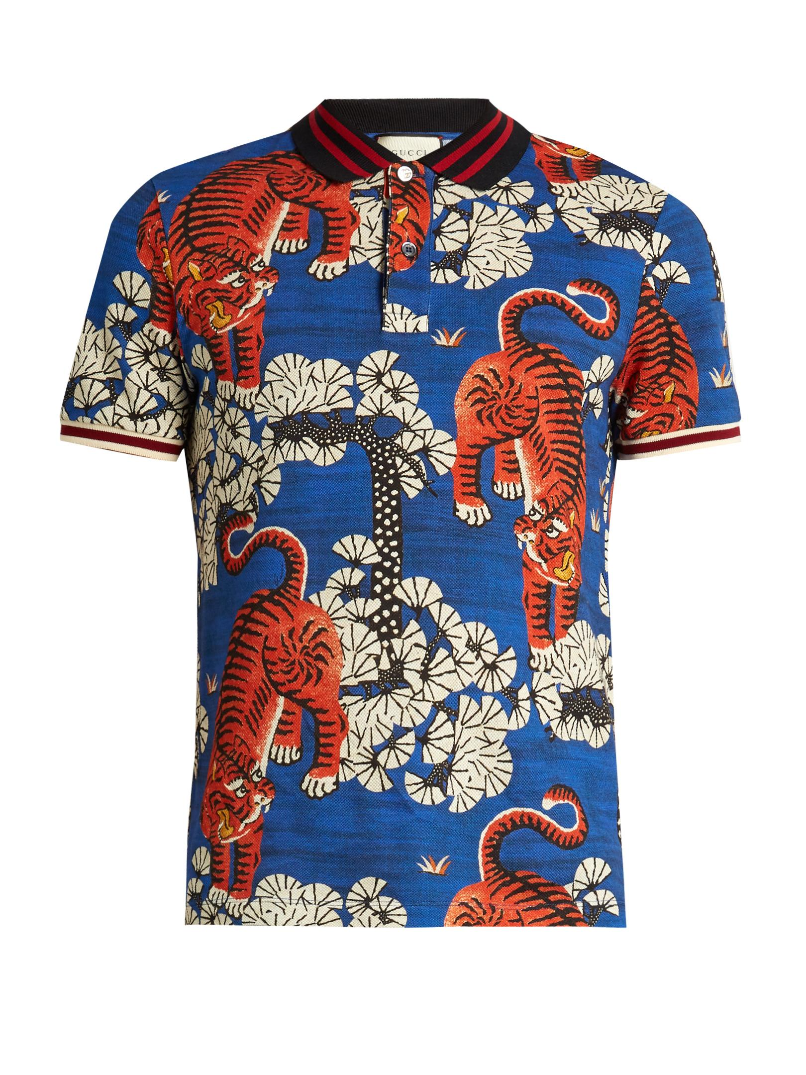 b55aa9fea Gucci Bengal Tiger Polo Shirt - Best Picture Tiger In The World