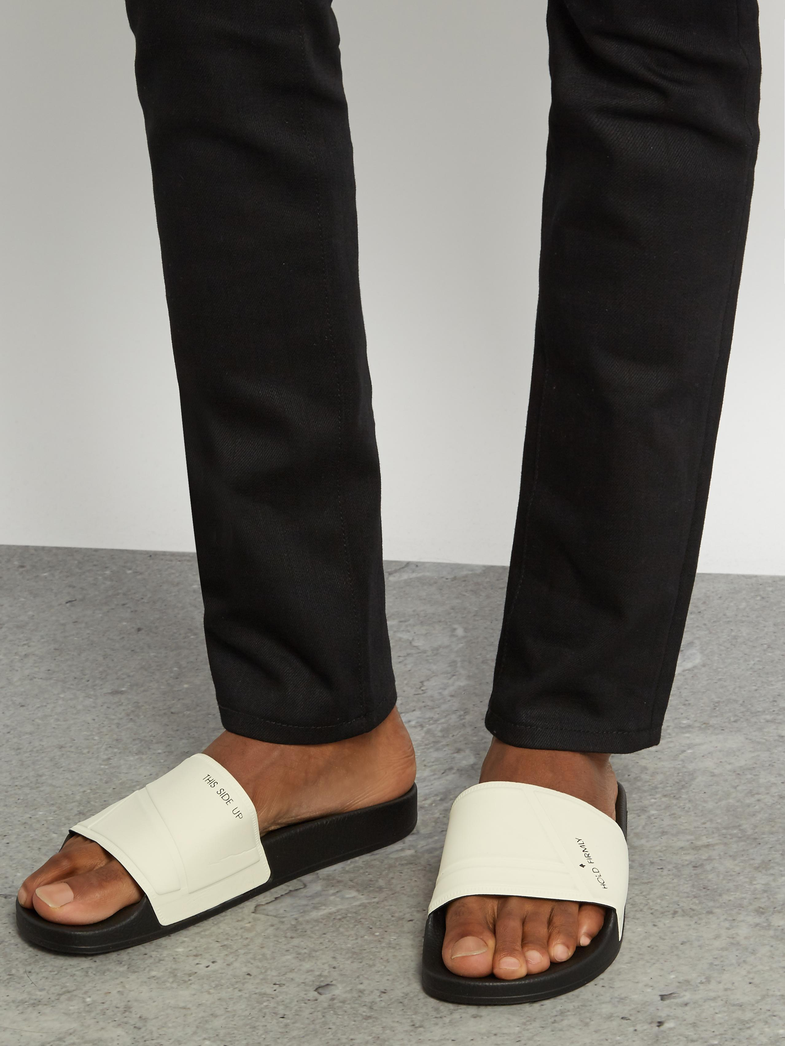 34dcfdbba Lyst - adidas By Raf Simons Bunny Adilette Pool Slides in Black for Men