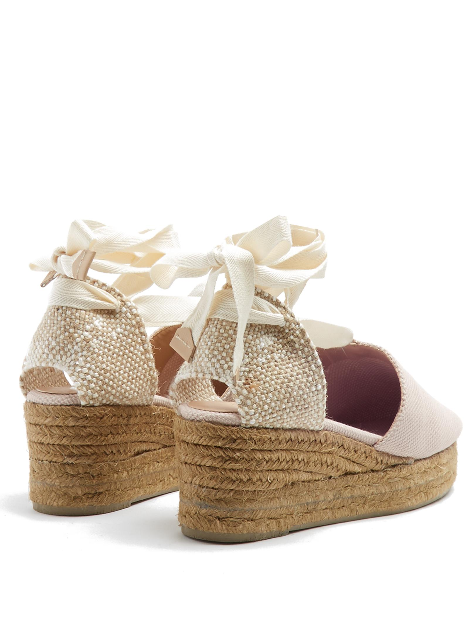 47d05fc62e Castaner Campina Canvas Wedge Espadrilles in Pink - Lyst