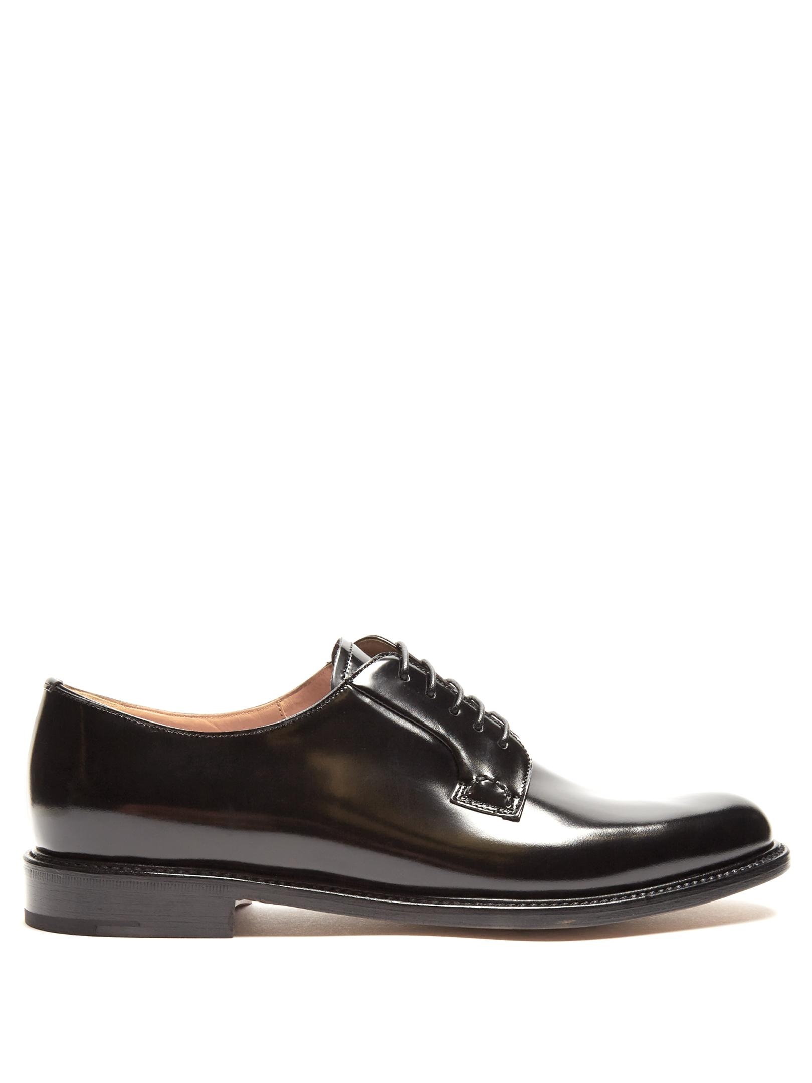 church s shannon lace up leather derby shoes in black lyst