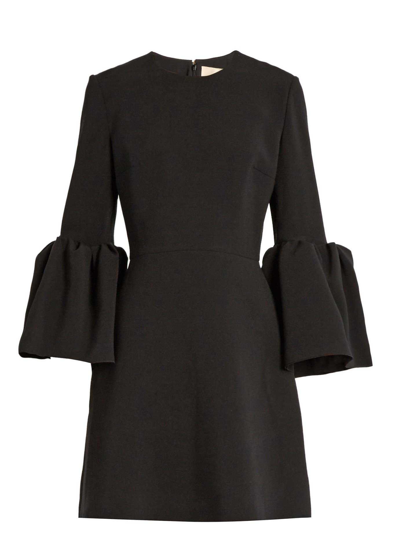 Lyst Roksanda Hadari Bell Sleeved Cady Dress In Black