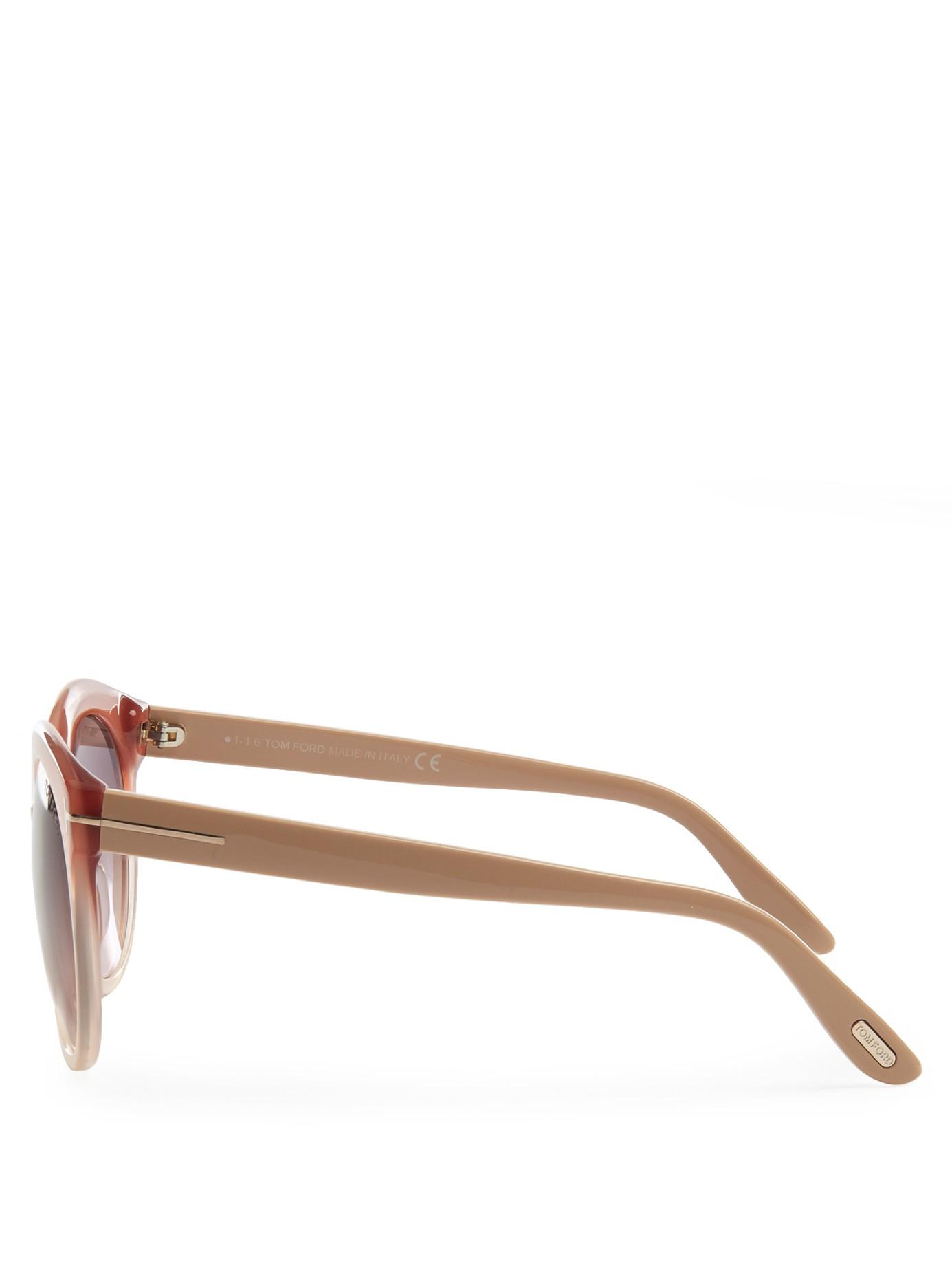 c5c7dafe21b Tom Ford Monica Acetate Sunglasses in Pink - Lyst