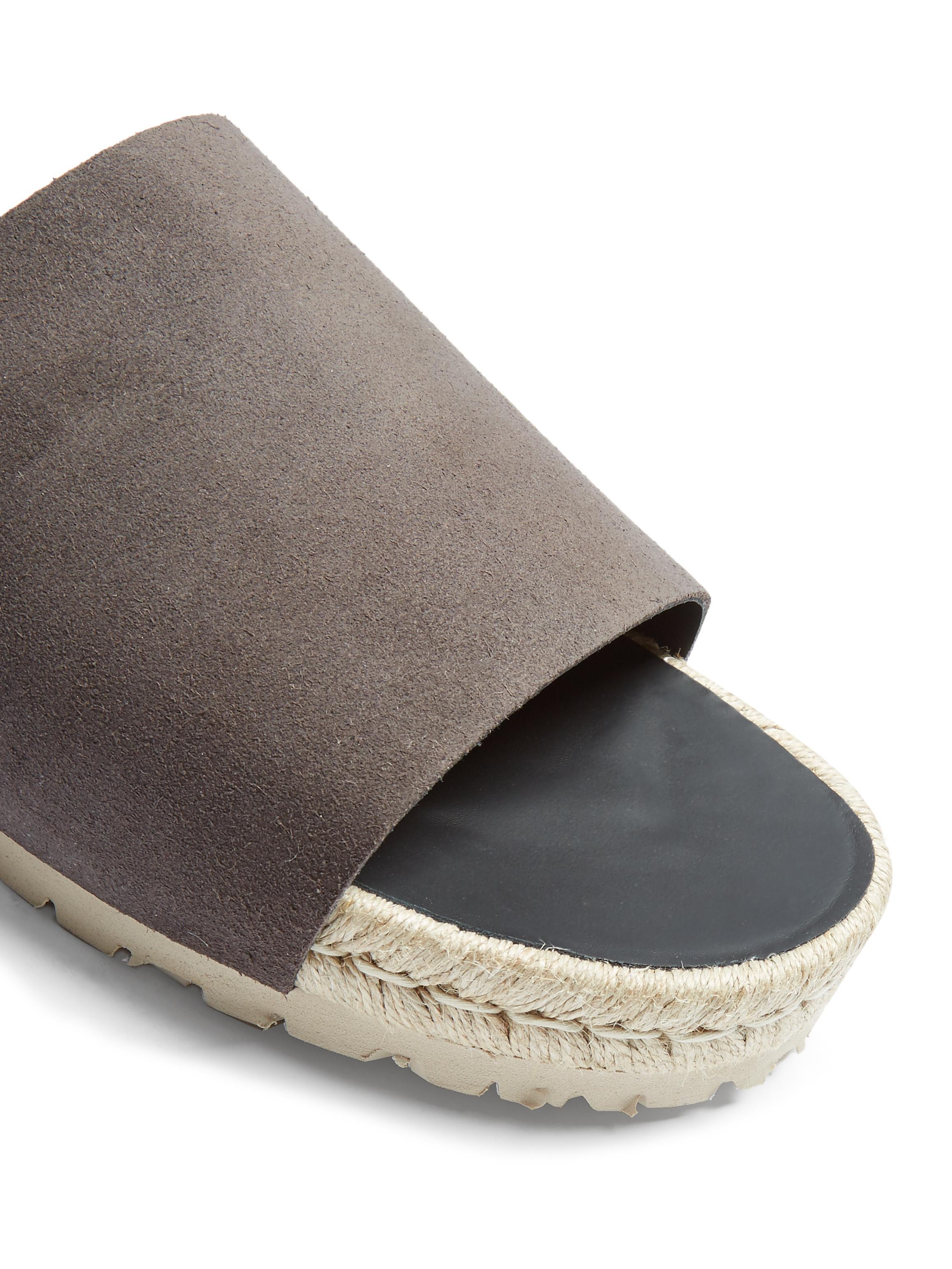 Balenciaga Suede Slides In Grey Gray For Men Lyst