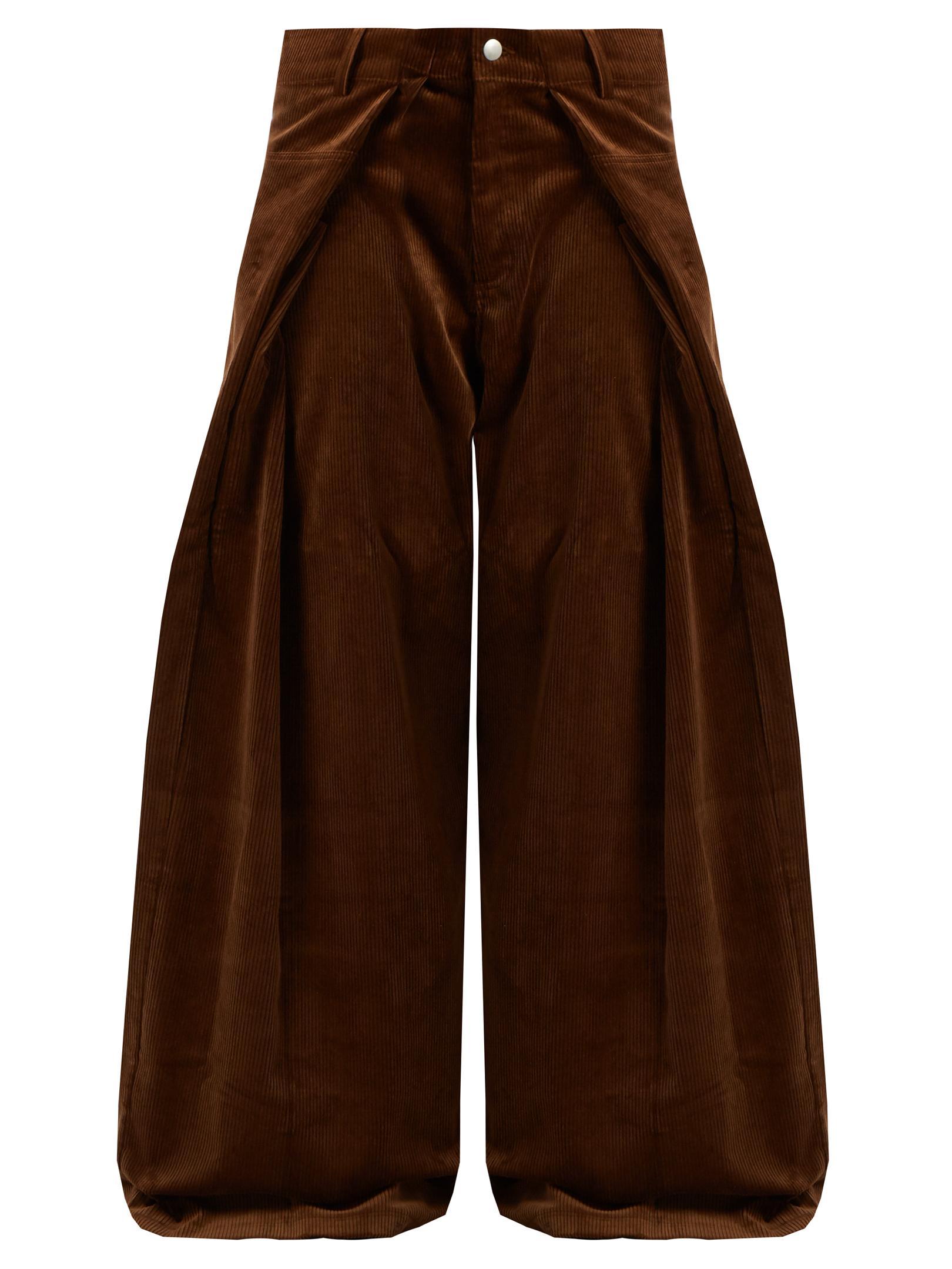 Lyst Martine Rose Fold Front Wide Leg Cotton Corduroy