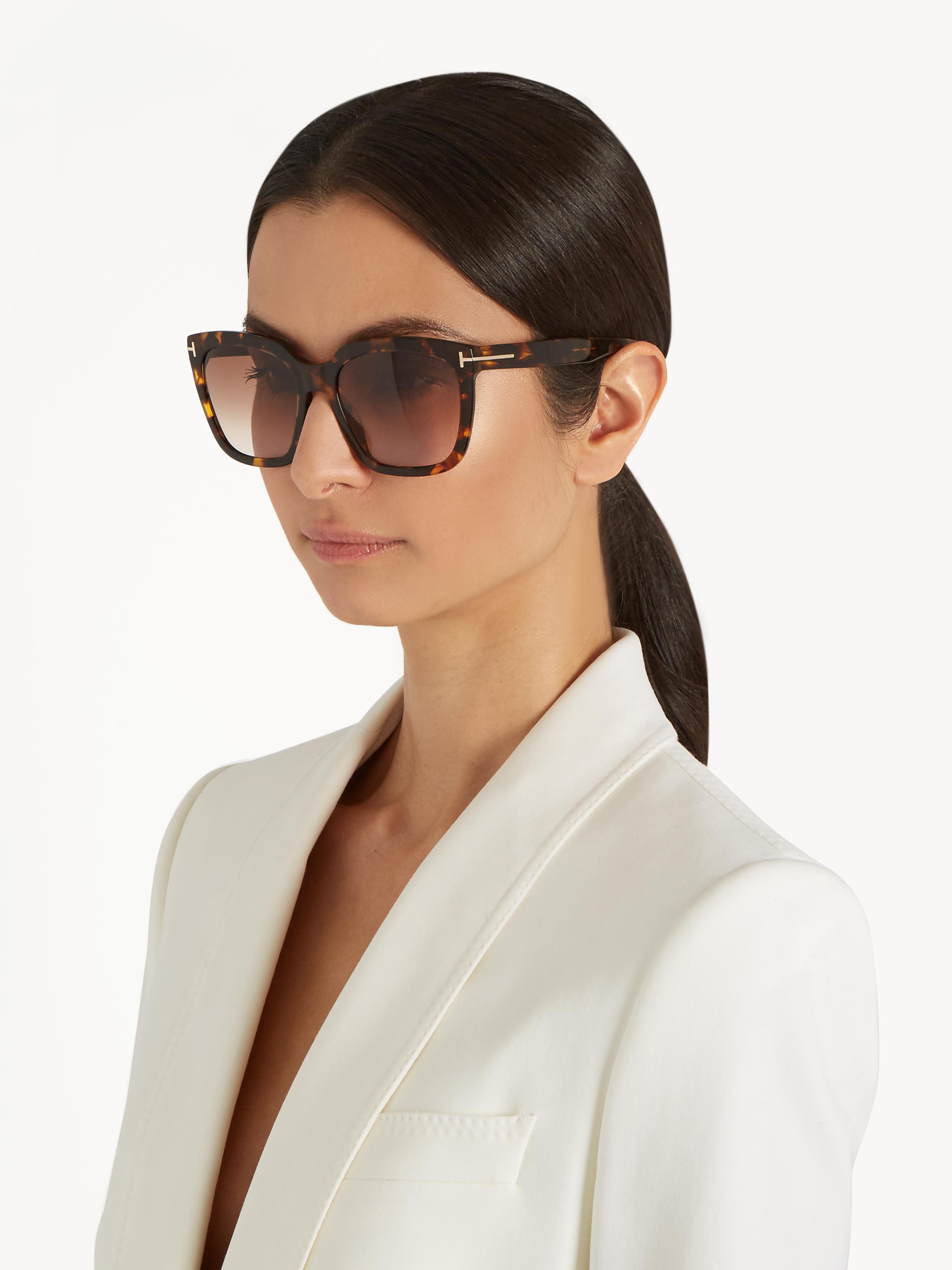 4dd7f49b433be Tom Ford Amarra Acetate Sunglasses in Brown - Lyst