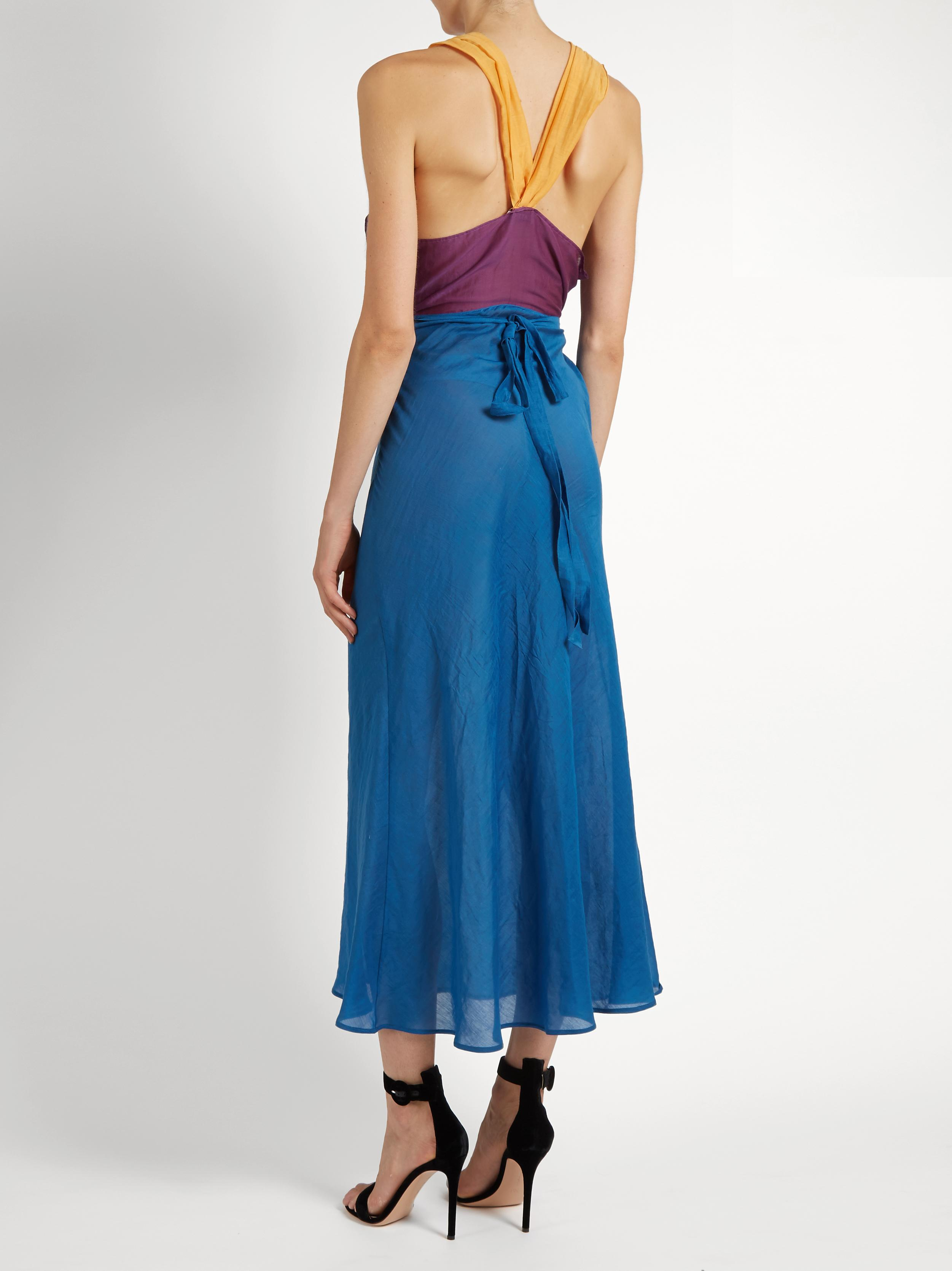 Lyst Attico Juliana Dress In Blue